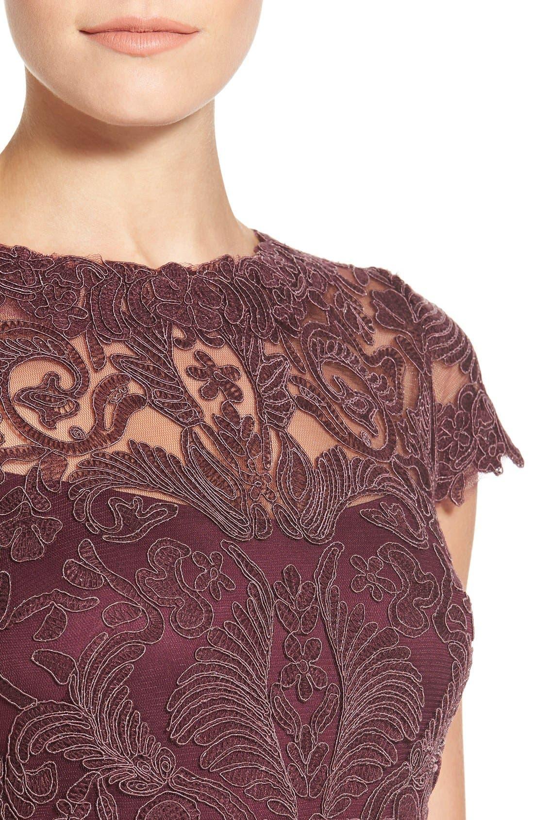 Illusion Yoke Lace Sheath Dress,                             Alternate thumbnail 96, color,