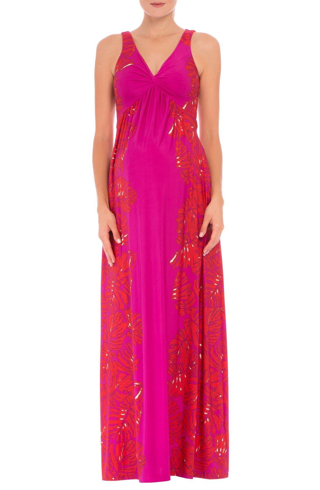 Scarlet Sleeveless Maternity Maxi Dress,                         Main,                         color, RED