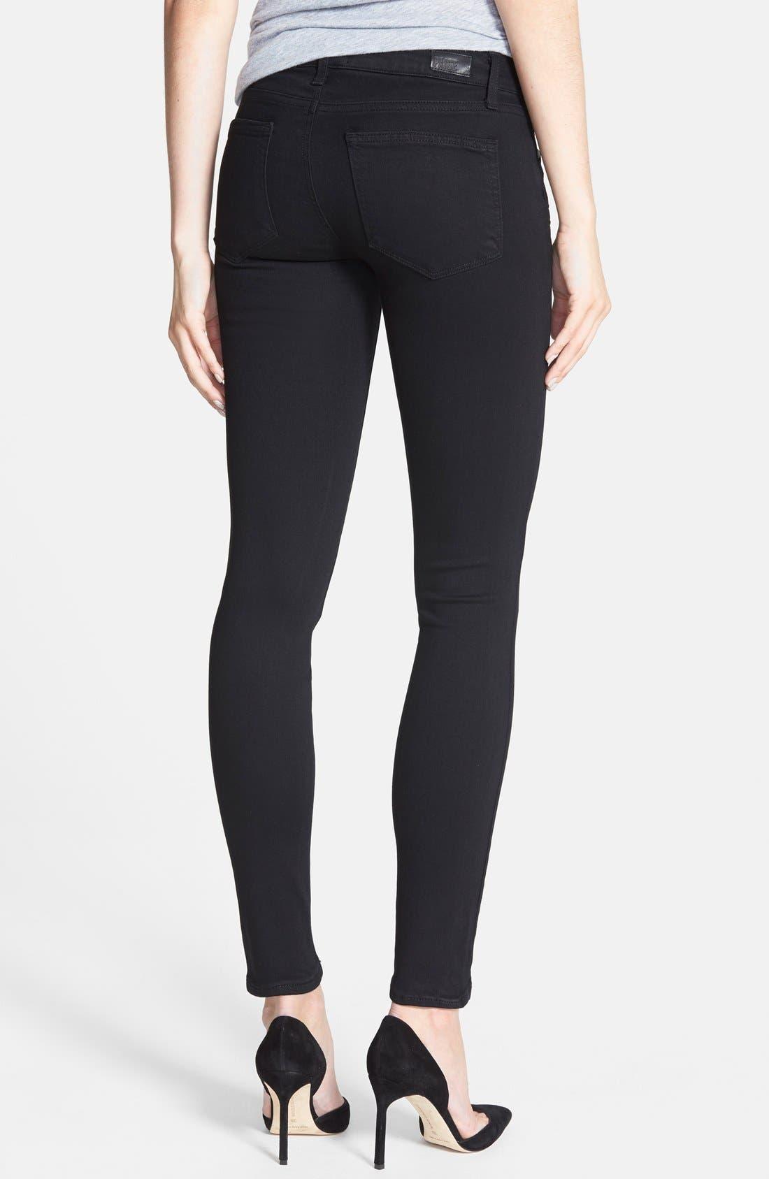 Transcend - Edgemont Ultra Skinny Jeans,                             Alternate thumbnail 2, color,                             BLACK SHADOW