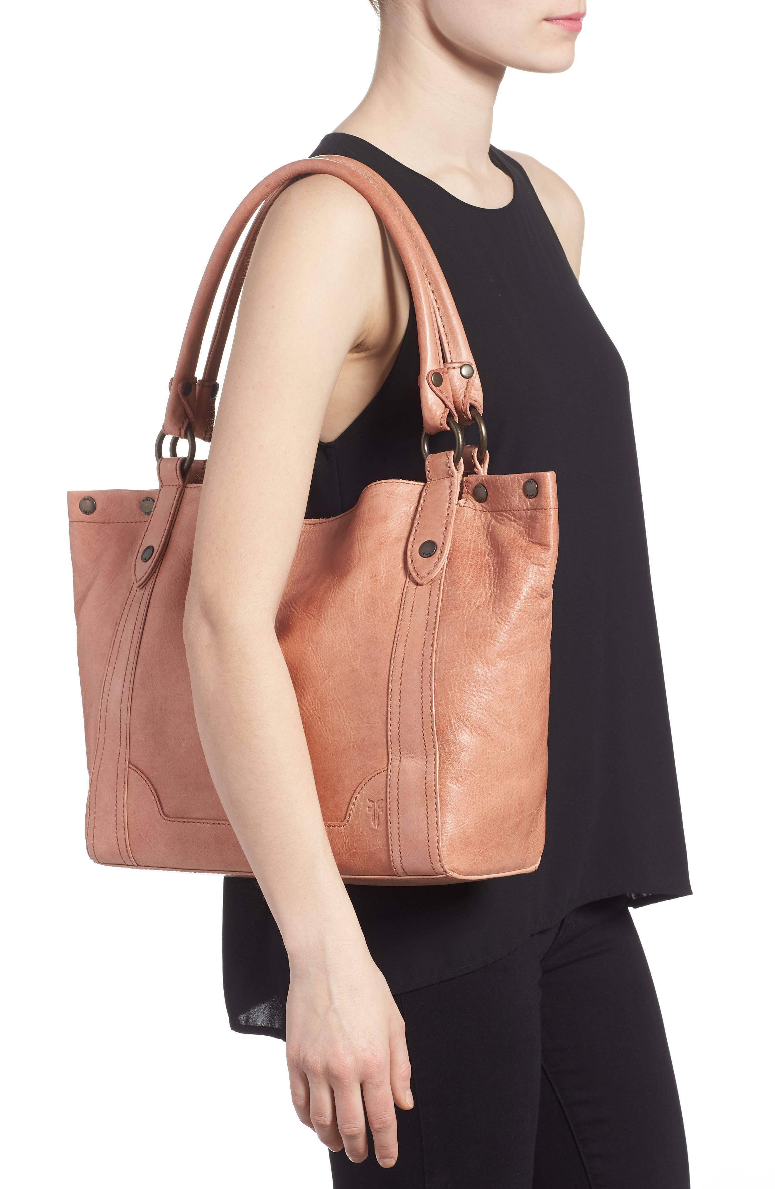 Melissa Leather Shoulder Bag,                             Alternate thumbnail 2, color,                             DUSTY ROSE