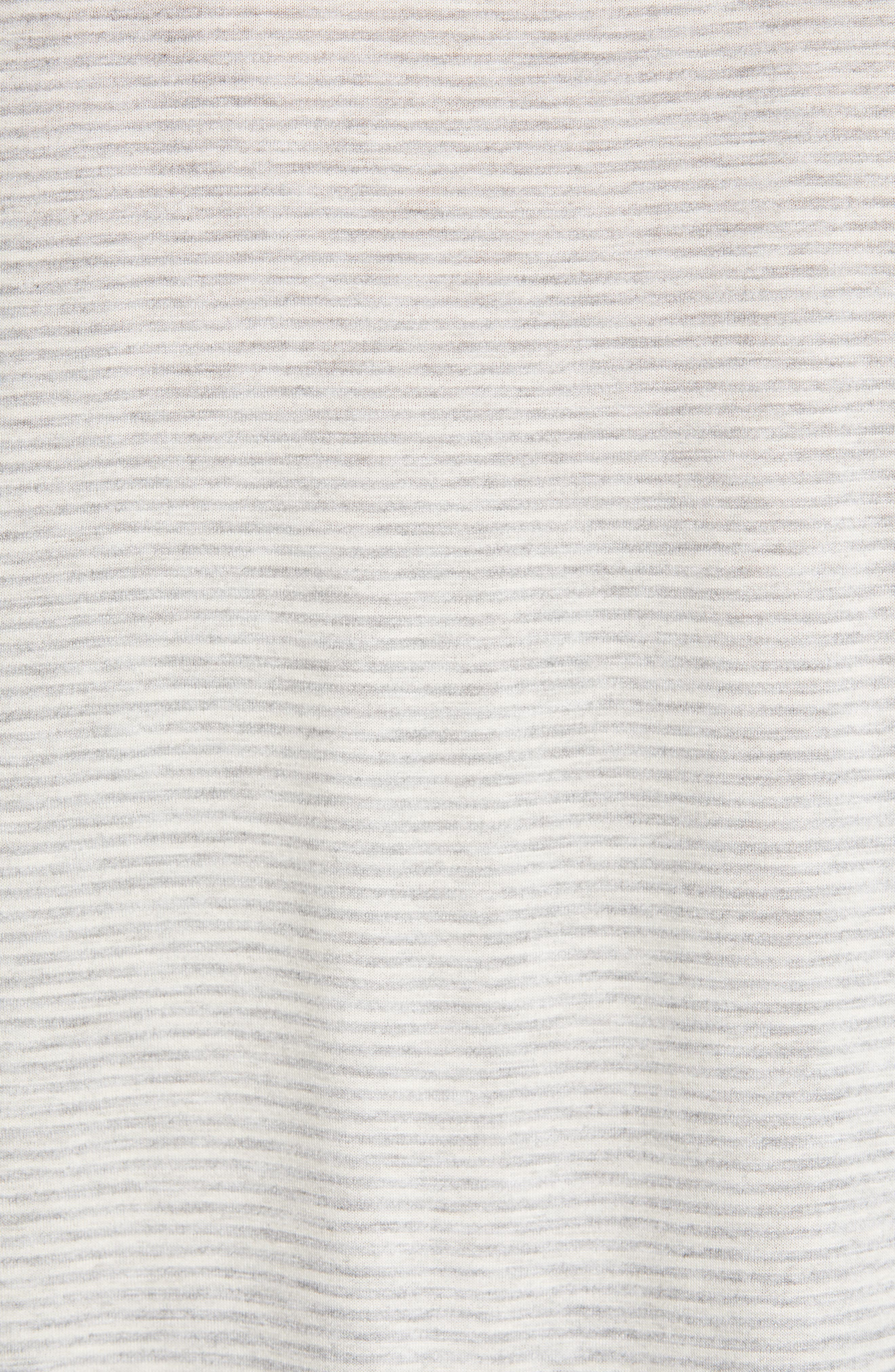 Mini Stripe Tee,                             Alternate thumbnail 5, color,                             WHITE- GREY MINI STRIPE