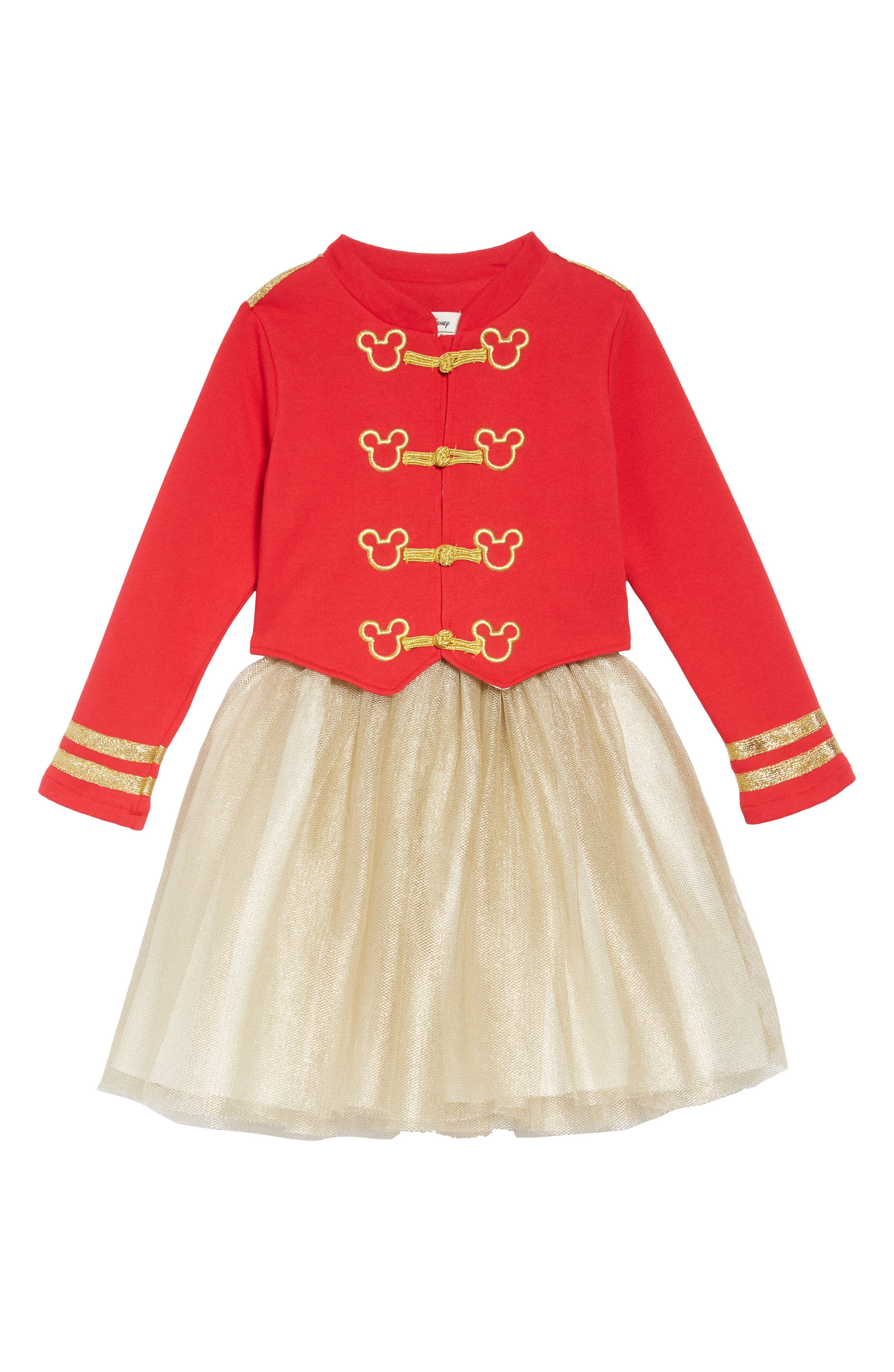PIPPA & JULIE,                             x Disney<sup>®</sup> Mickey Mouse<sup>®</sup> Majorette Jacket & Tank Dress Set,                             Main thumbnail 1, color,                             643