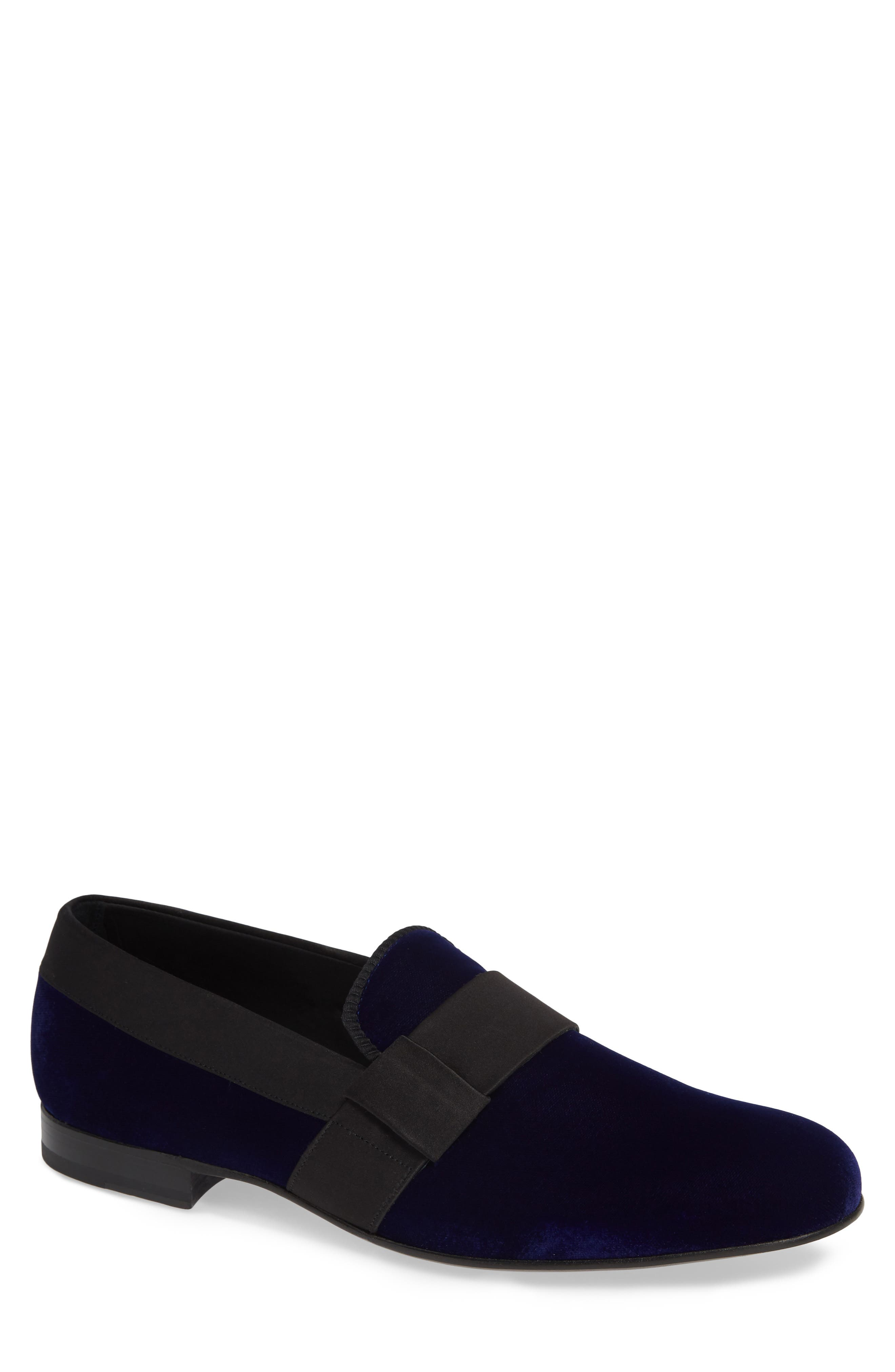 Palance Velvet Slip-On,                         Main,                         color, BLUE VELVET