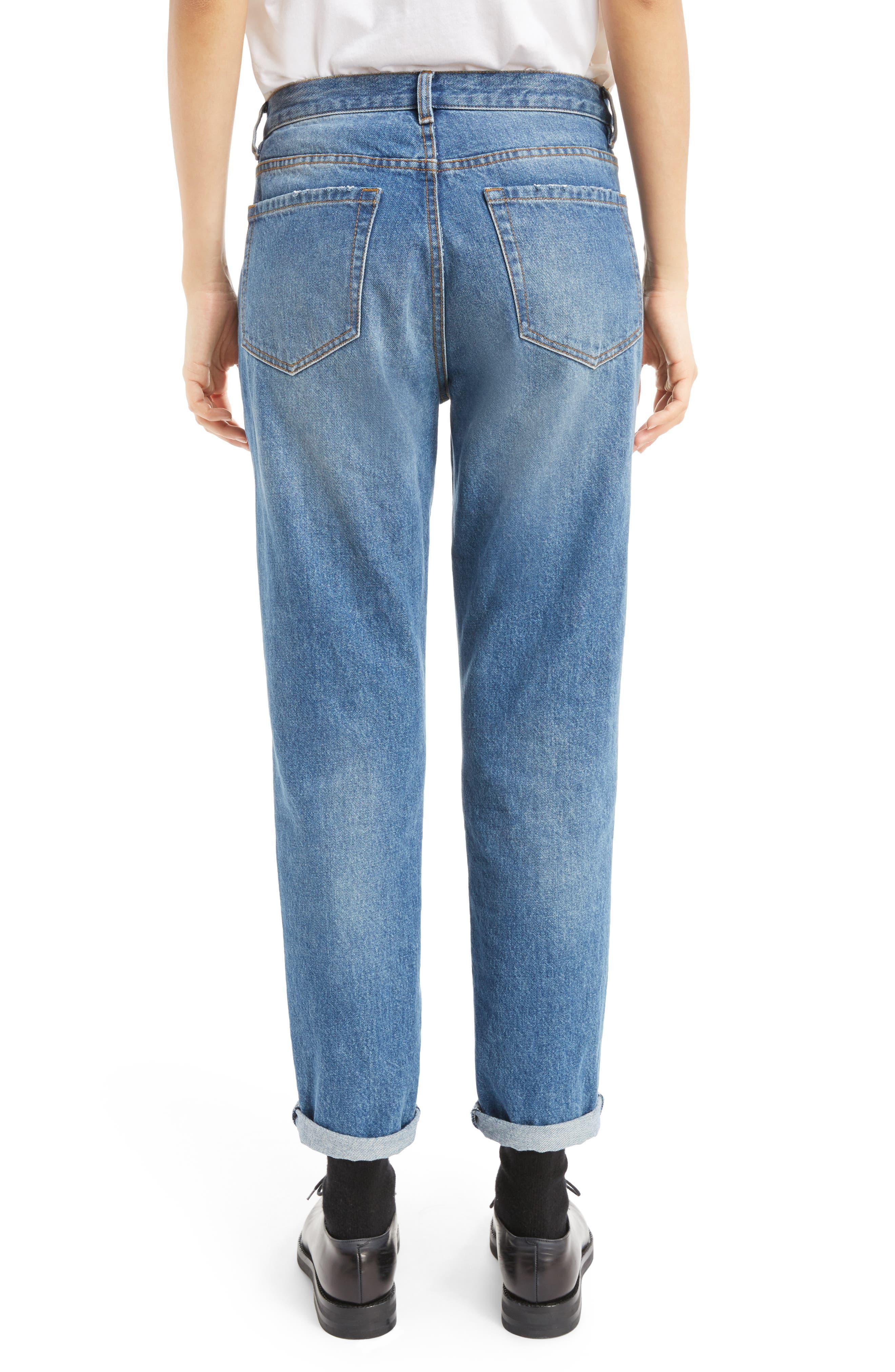 Cuffed Straight Leg Jeans,                             Alternate thumbnail 2, color,                             400