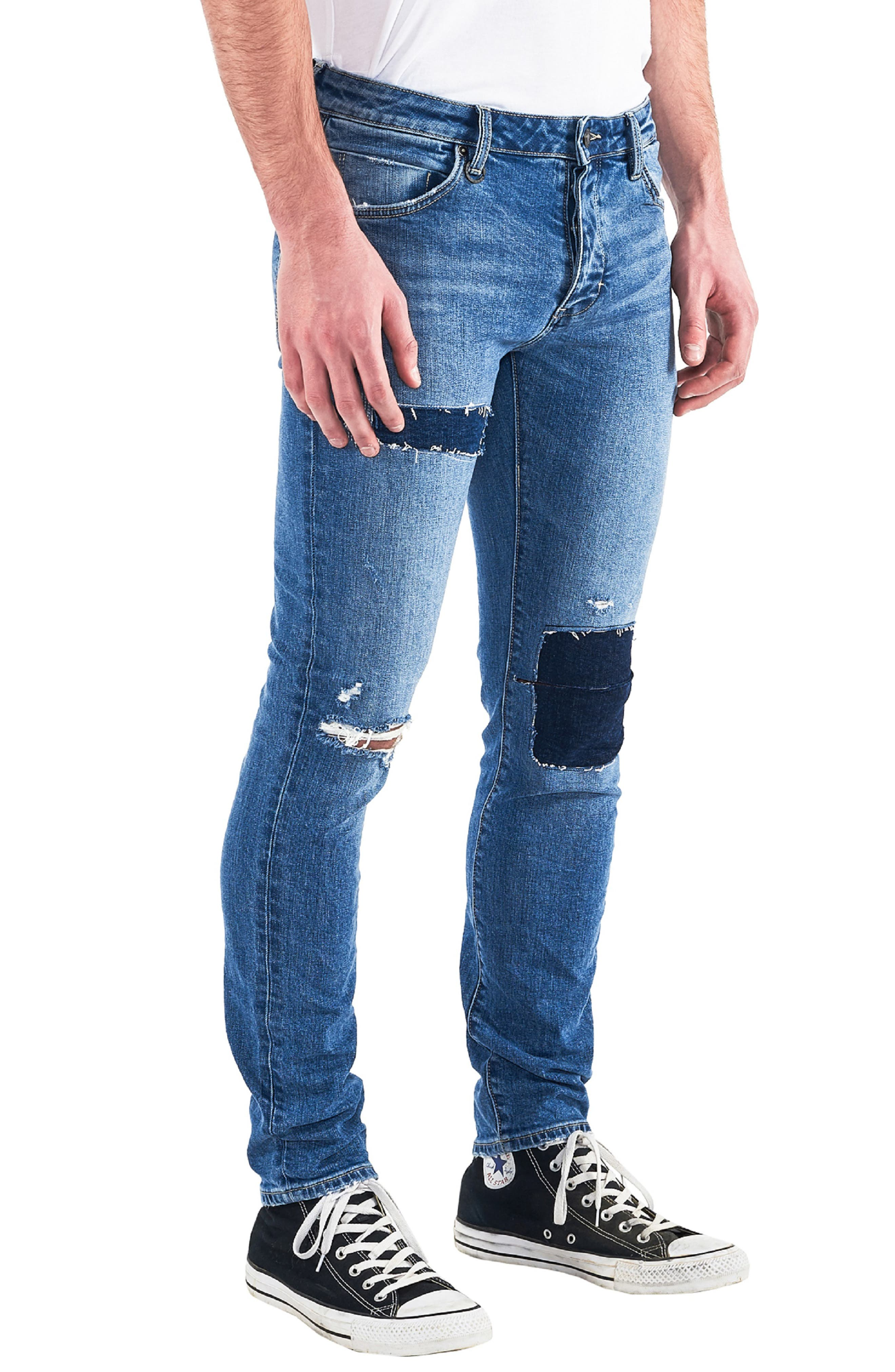 Iggy Skinny Fit Jeans,                             Alternate thumbnail 3, color,                             TRAIN