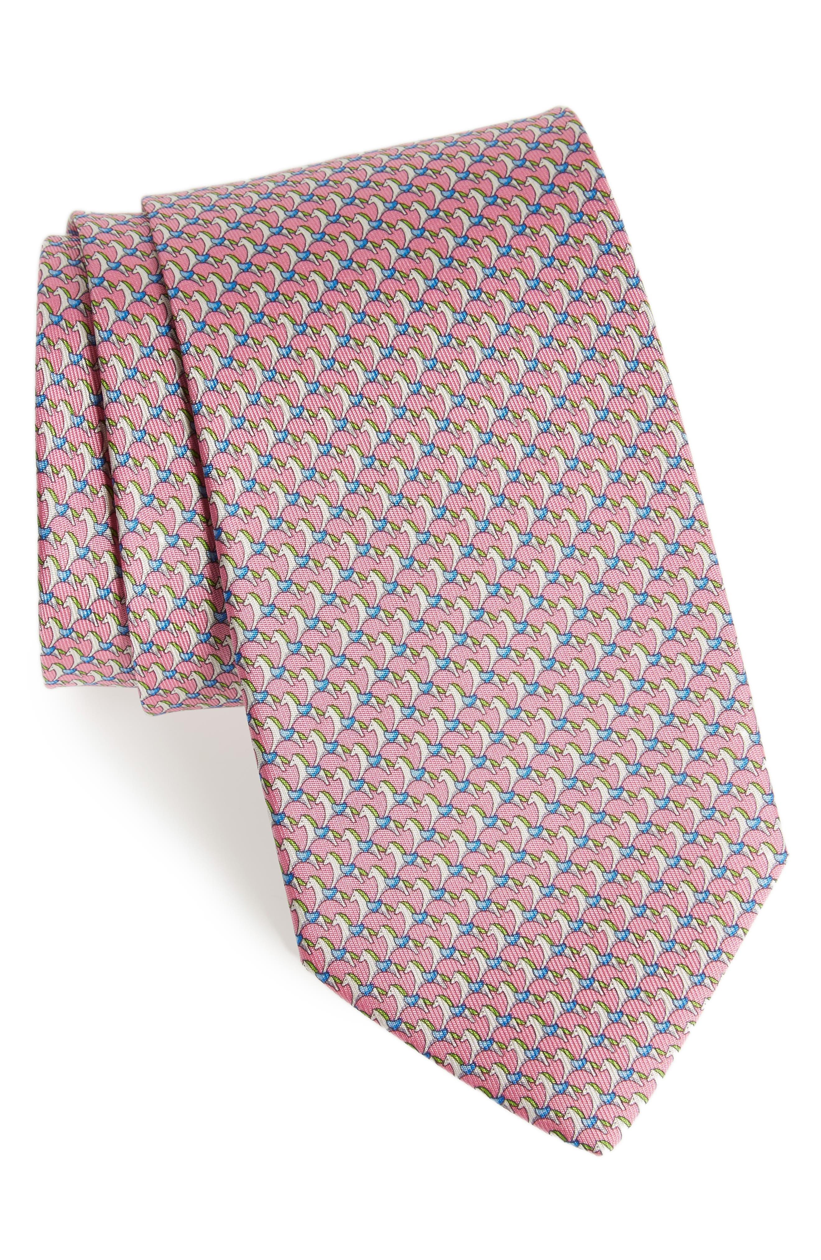 Edwin Print Silk Tie,                             Main thumbnail 2, color,