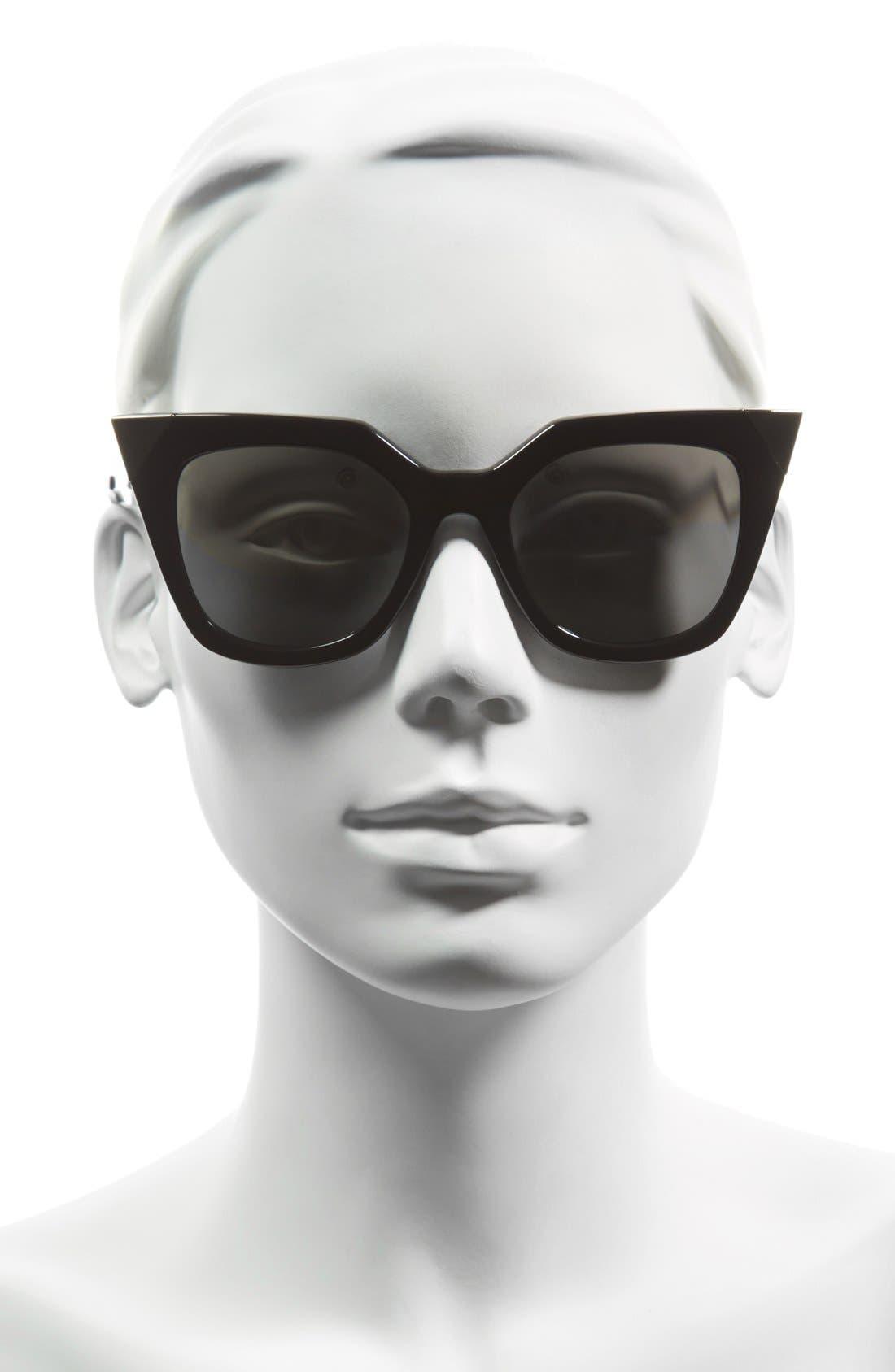 52mm Cat Eye Sunglasses,                             Alternate thumbnail 9, color,