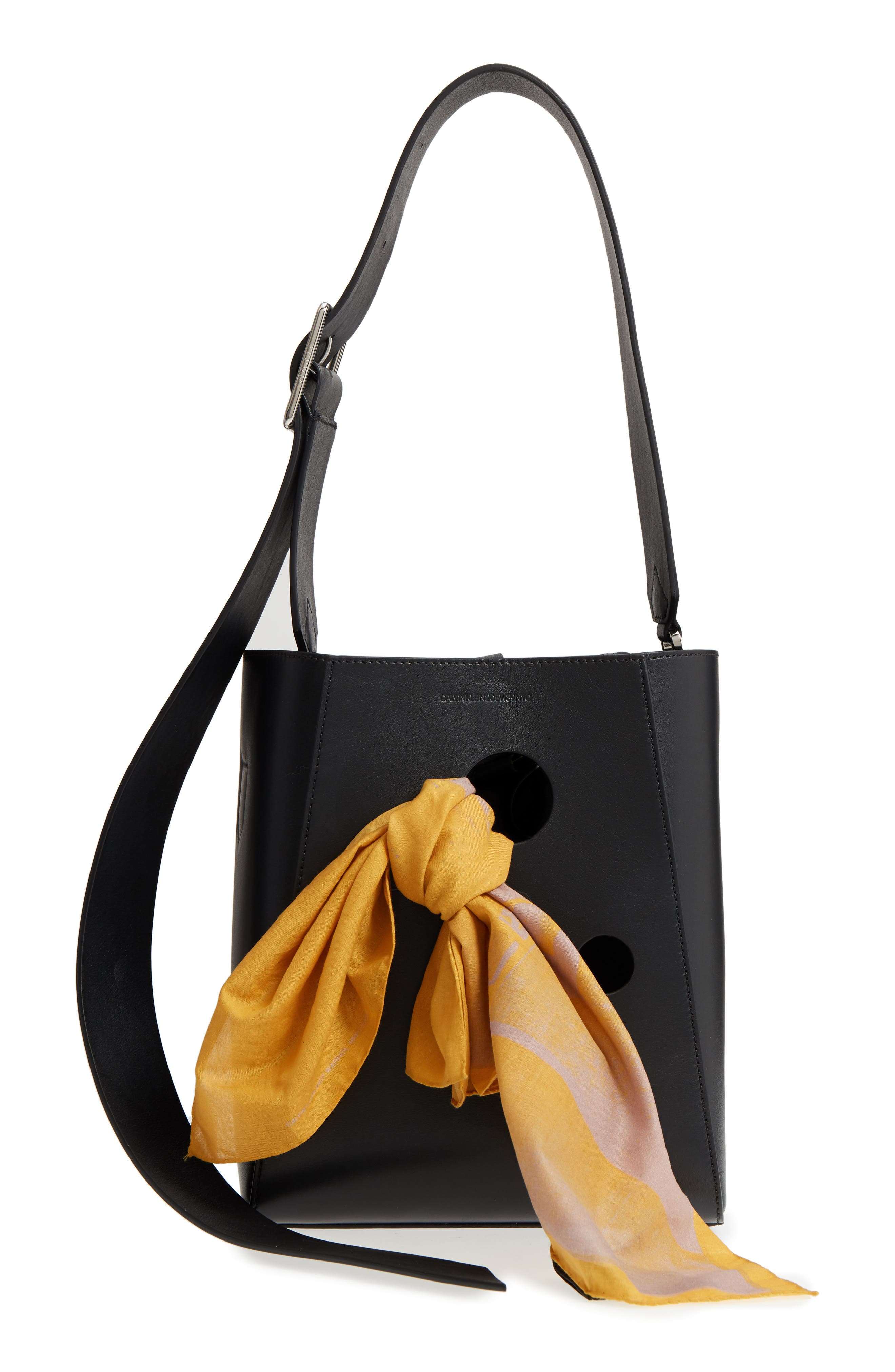 x Andy Warhol Foundation Small Bucket Bag with Bandana & Removable Pouch,                             Main thumbnail 1, color,                             001