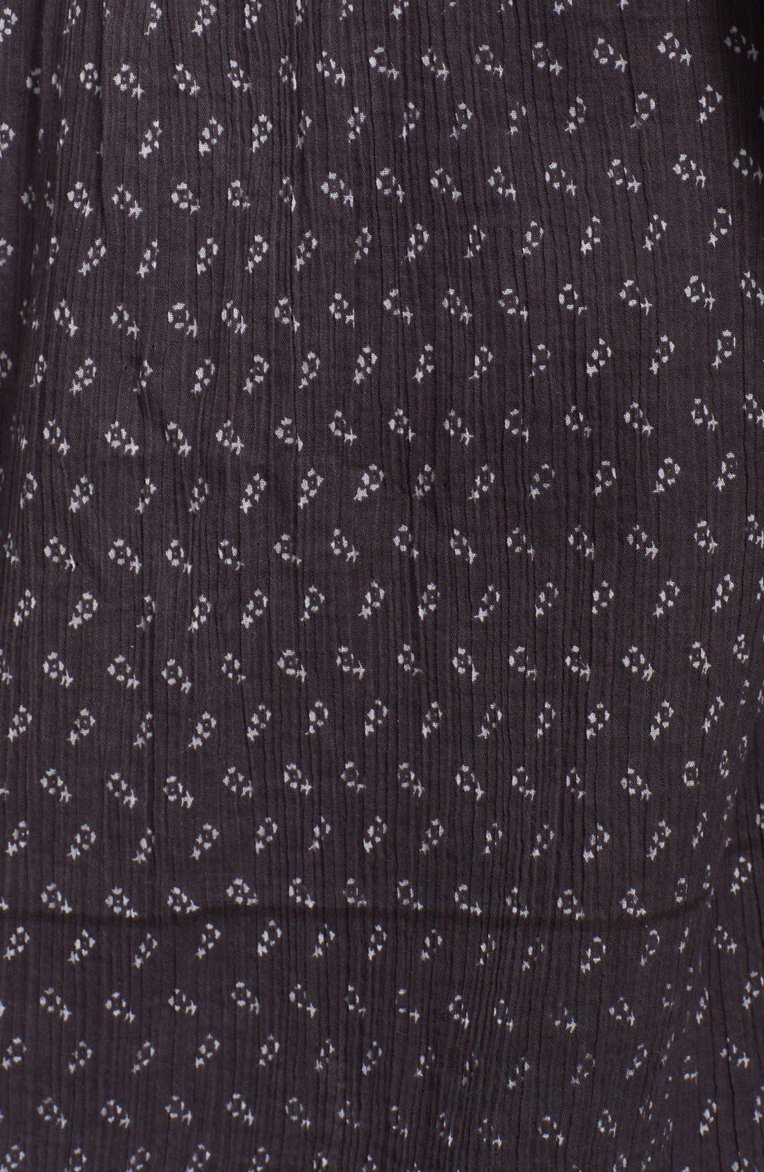 Cold Shoulder Cotton Peasant Dress,                             Alternate thumbnail 3, color,                             001