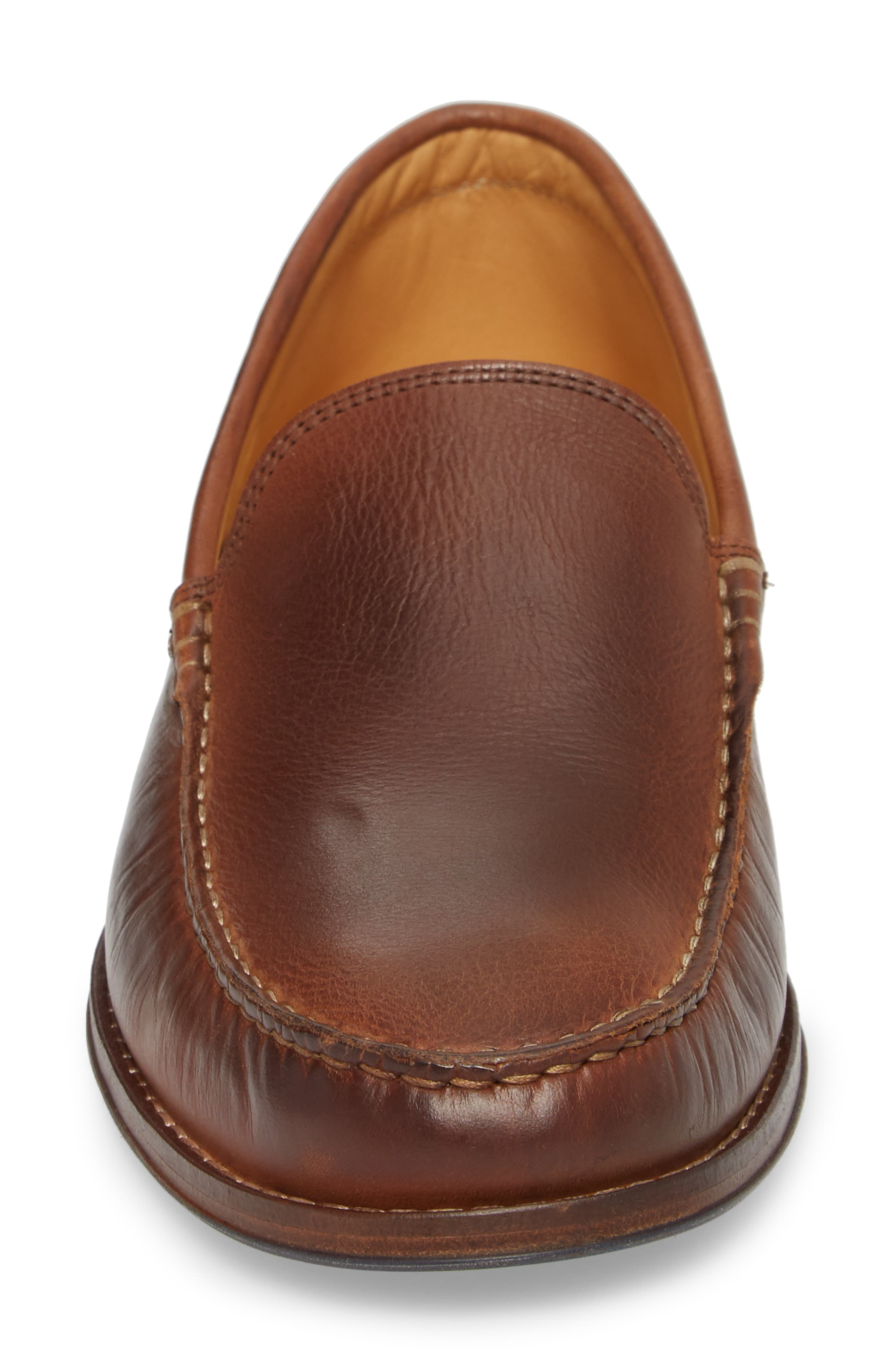 Caldwells Loafer,                             Alternate thumbnail 4, color,                             LIGHT BROWN DISTRESSED LEATHER