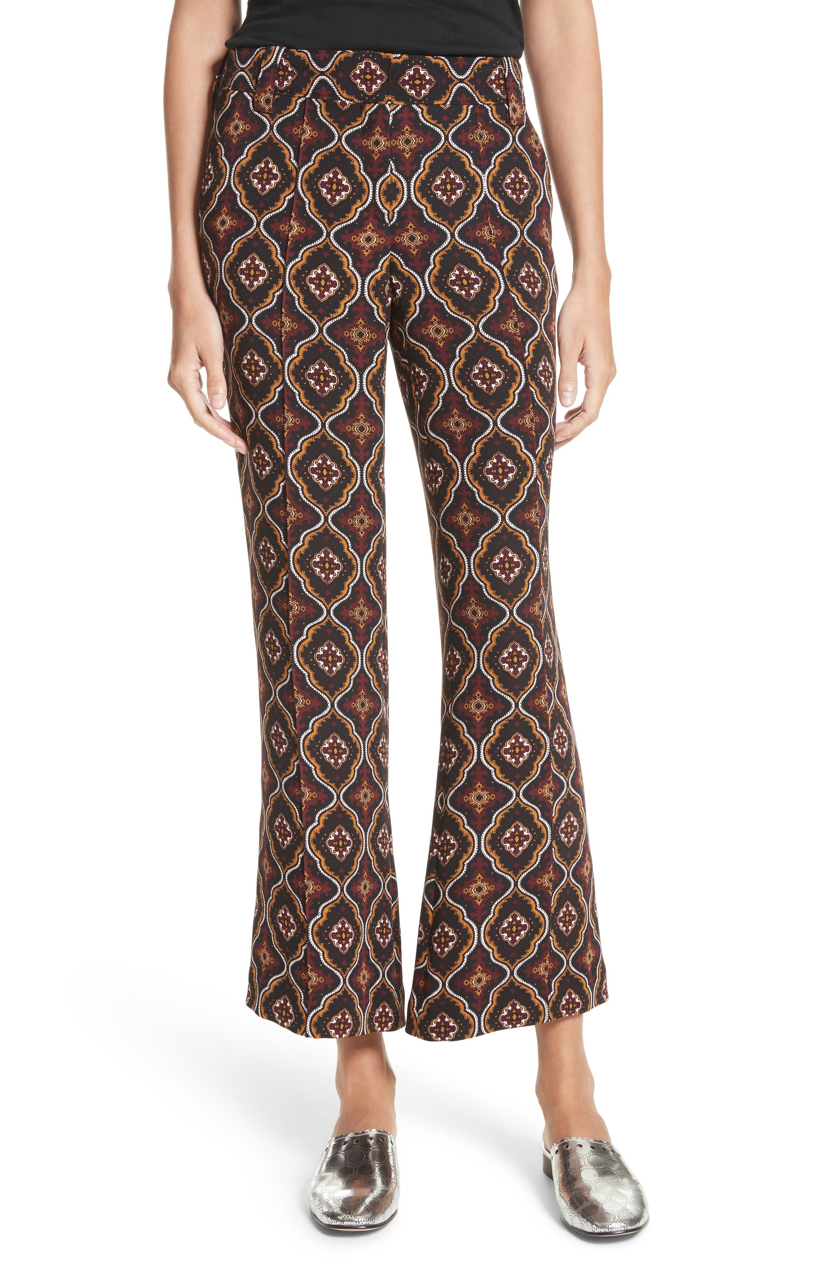 Felix Print Silk Pants,                         Main,                         color, 931