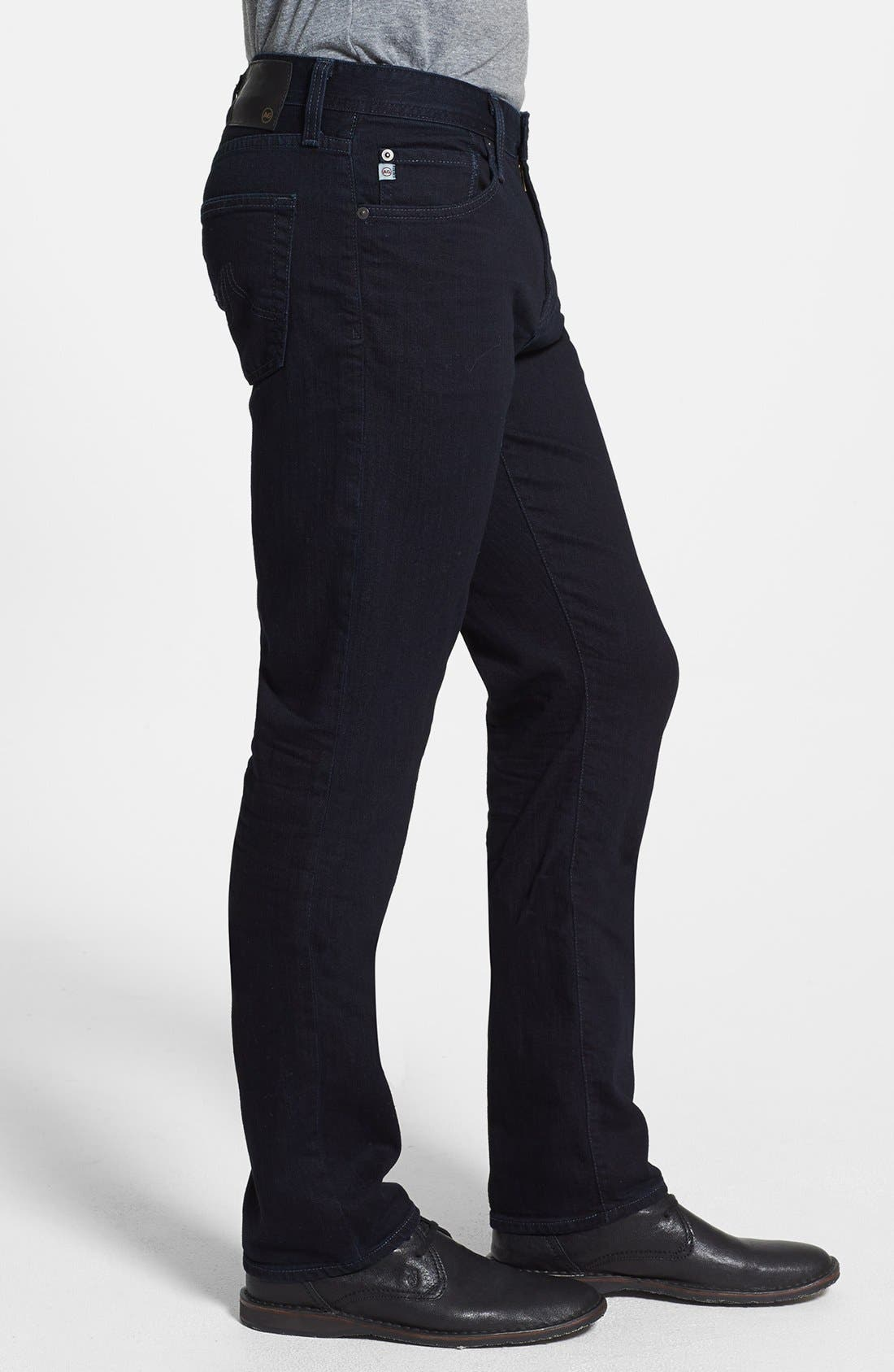 'Graduate' Tailored Fit Straight Leg Jeans,                             Alternate thumbnail 4, color,                             409