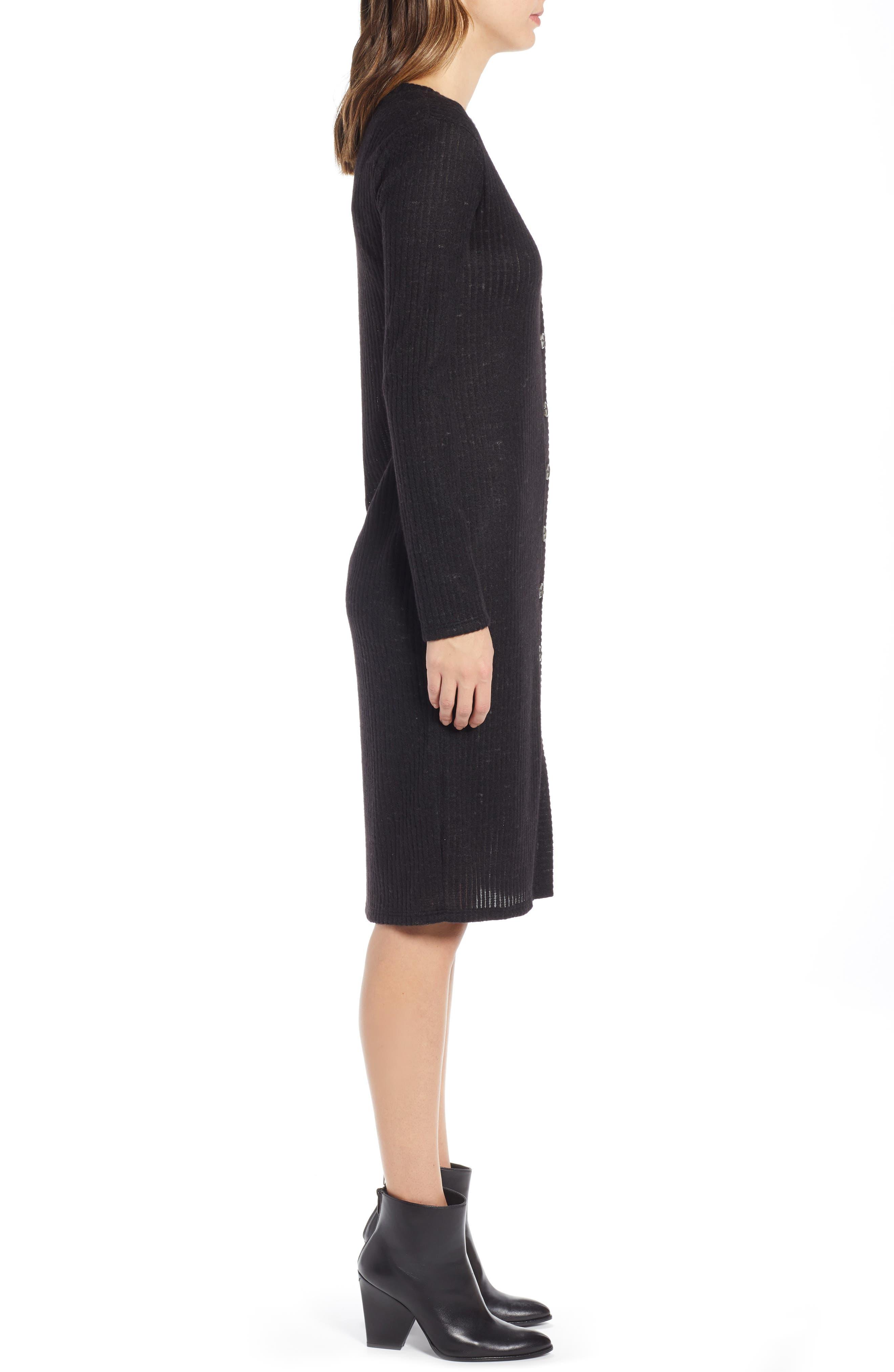 SOCIALITE,                             Sweater Dress,                             Alternate thumbnail 4, color,                             BLACK