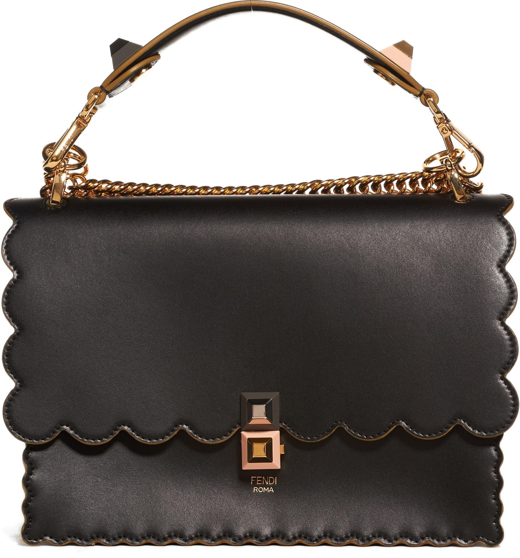 c2e726cd6f61 Fendi Kan I Scallop Leather Shoulder Bag