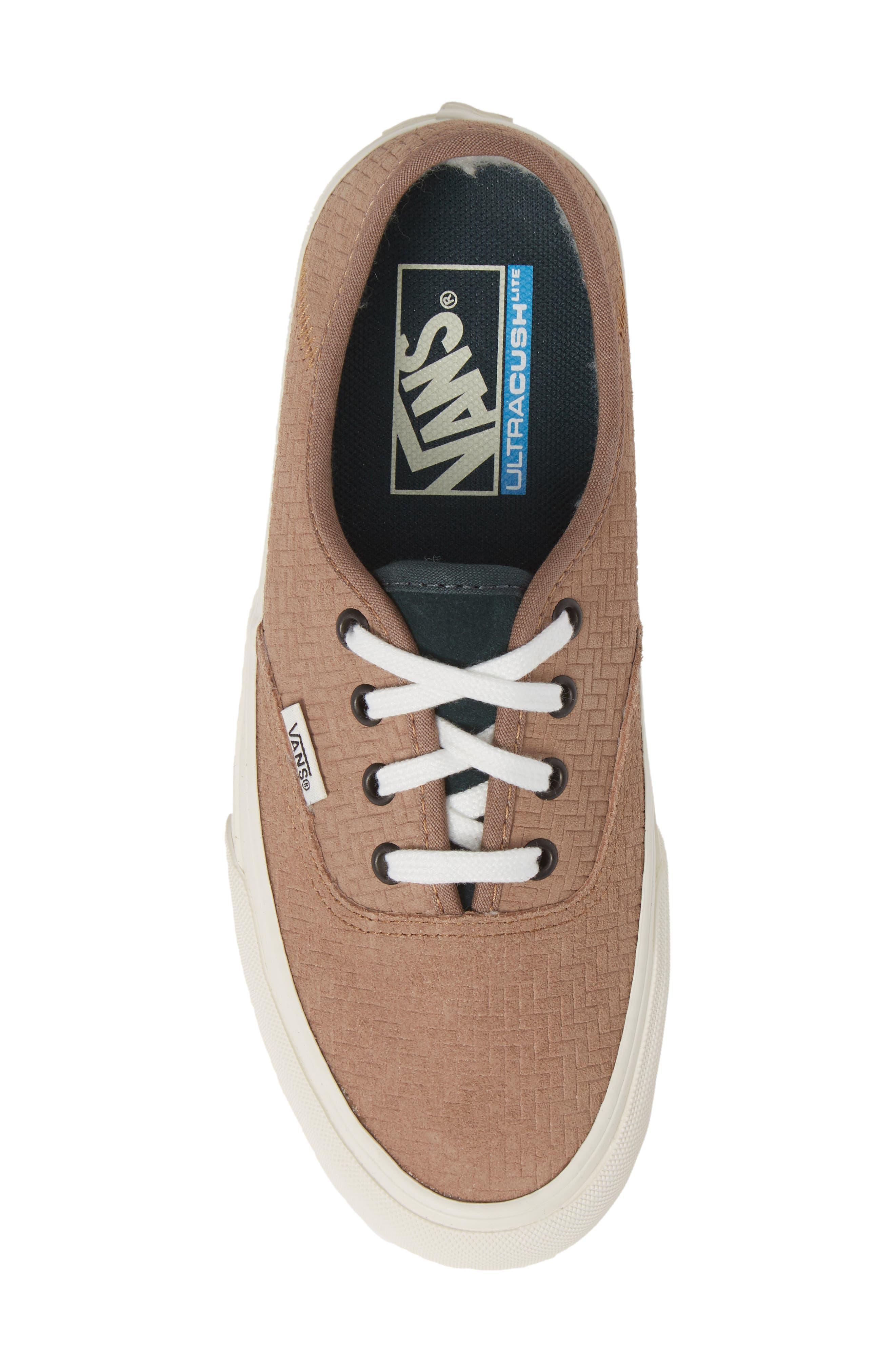 UA Authentic SF Collapsible Heel Sneaker,                             Alternate thumbnail 5, color,                             WOODSMOKE/ DARKEST SPRUCE