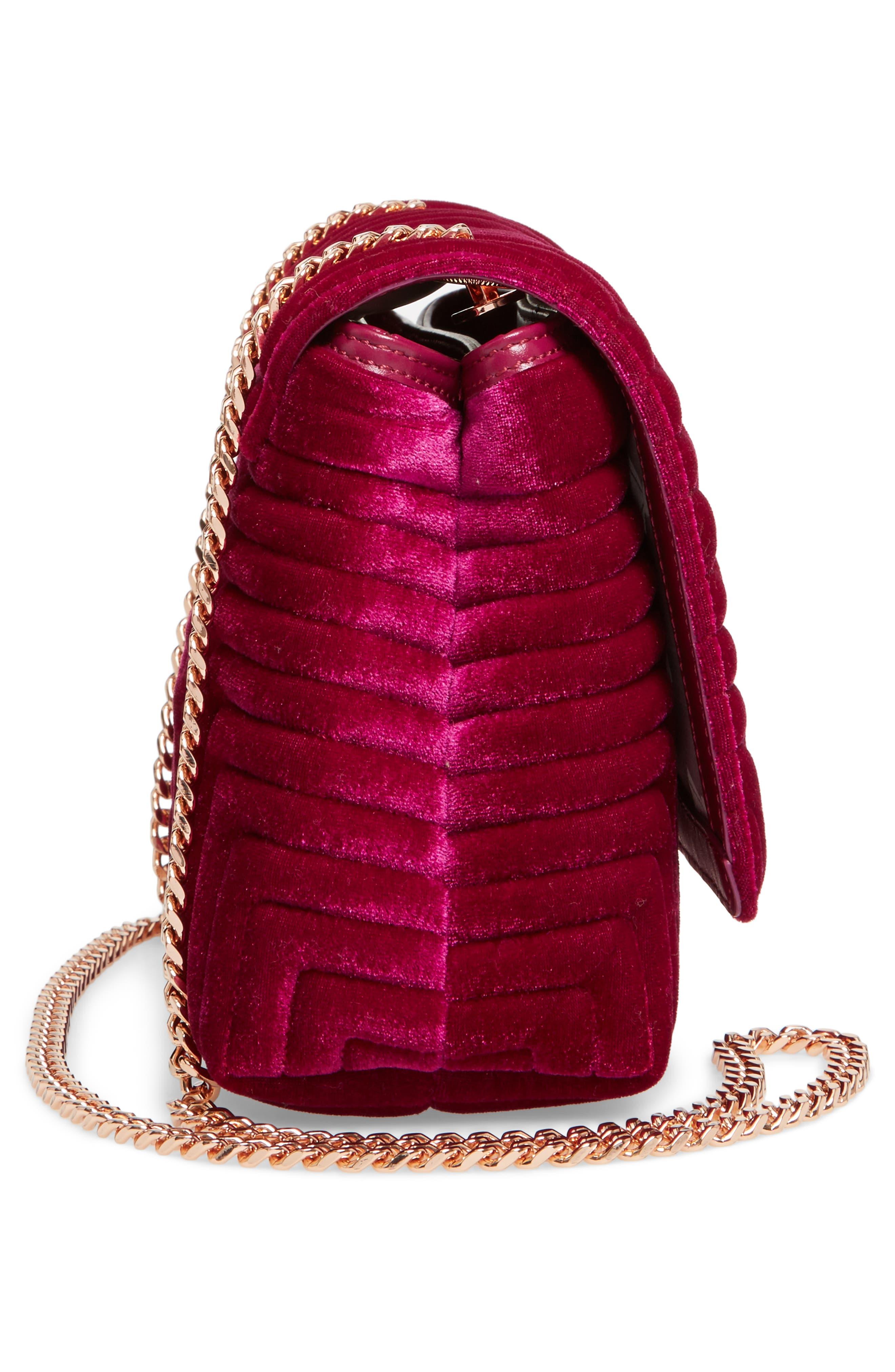 Quilted Velvet Crossbody Bag,                             Alternate thumbnail 19, color,