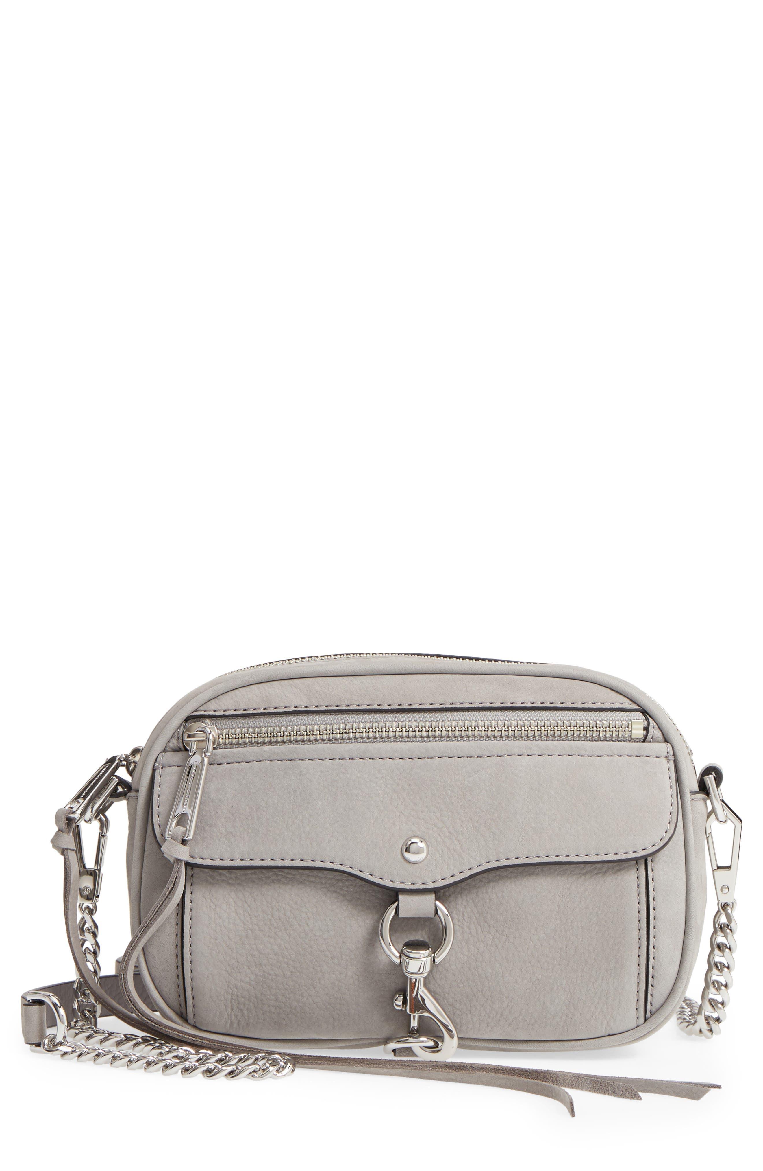 REBECCA MINKOFF Blythe Leather Crossbody Bag, Main, color, 020