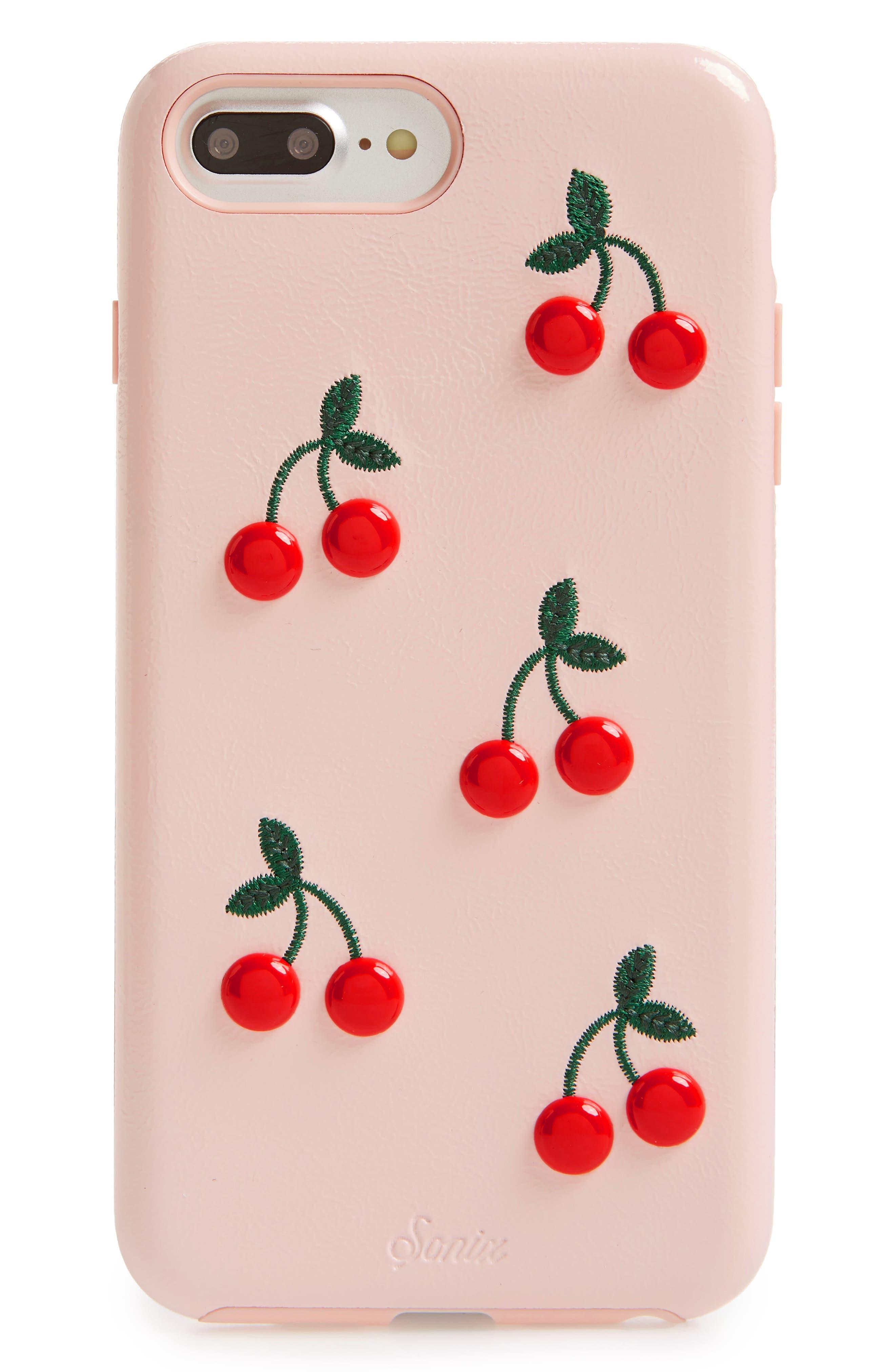 Cherry iPhone 7/8 Plus Case,                             Main thumbnail 1, color,                             CHERRY