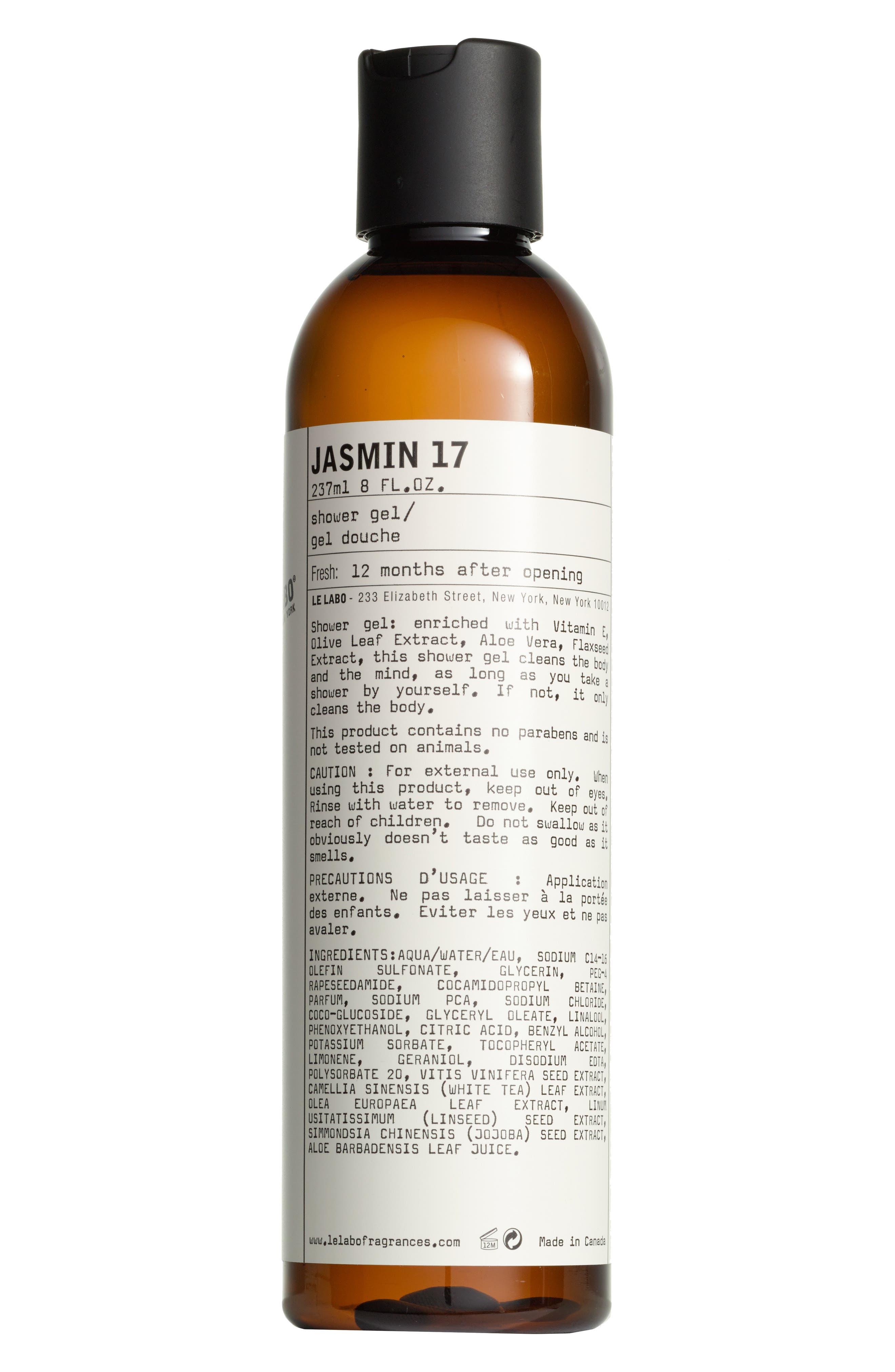 'Jasmin 17' Shower Gel,                             Alternate thumbnail 2, color,                             NO COLOR