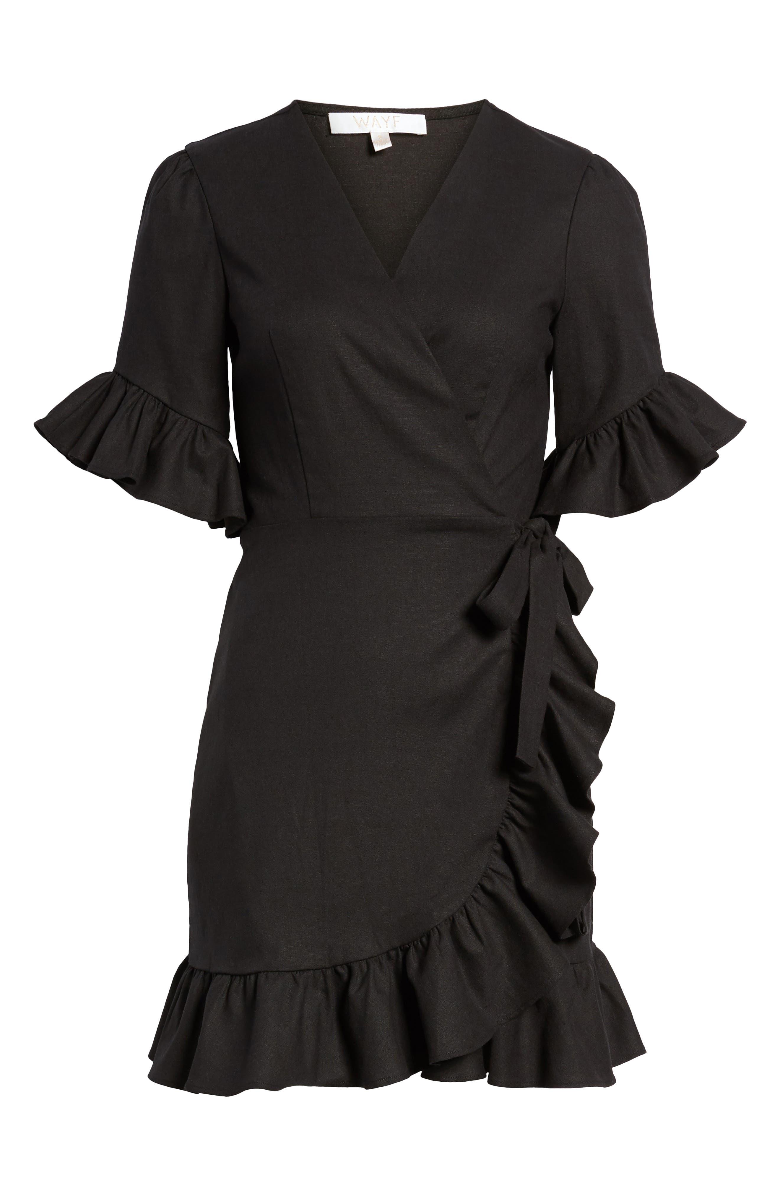 Ruffle Wrap Dress,                             Alternate thumbnail 26, color,