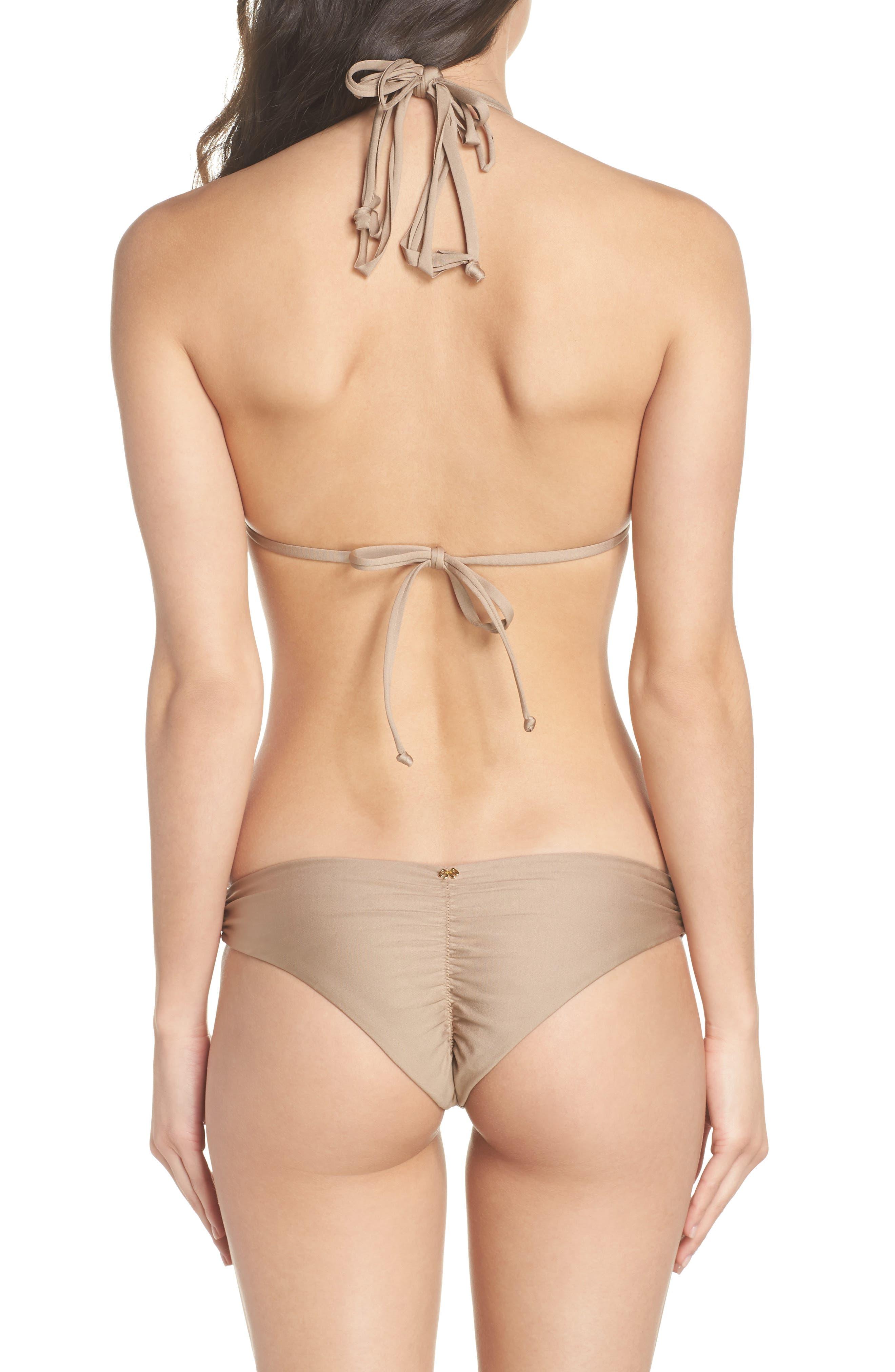 Isla Triangle Bikini Top,                             Alternate thumbnail 8, color,                             SANDSTONE