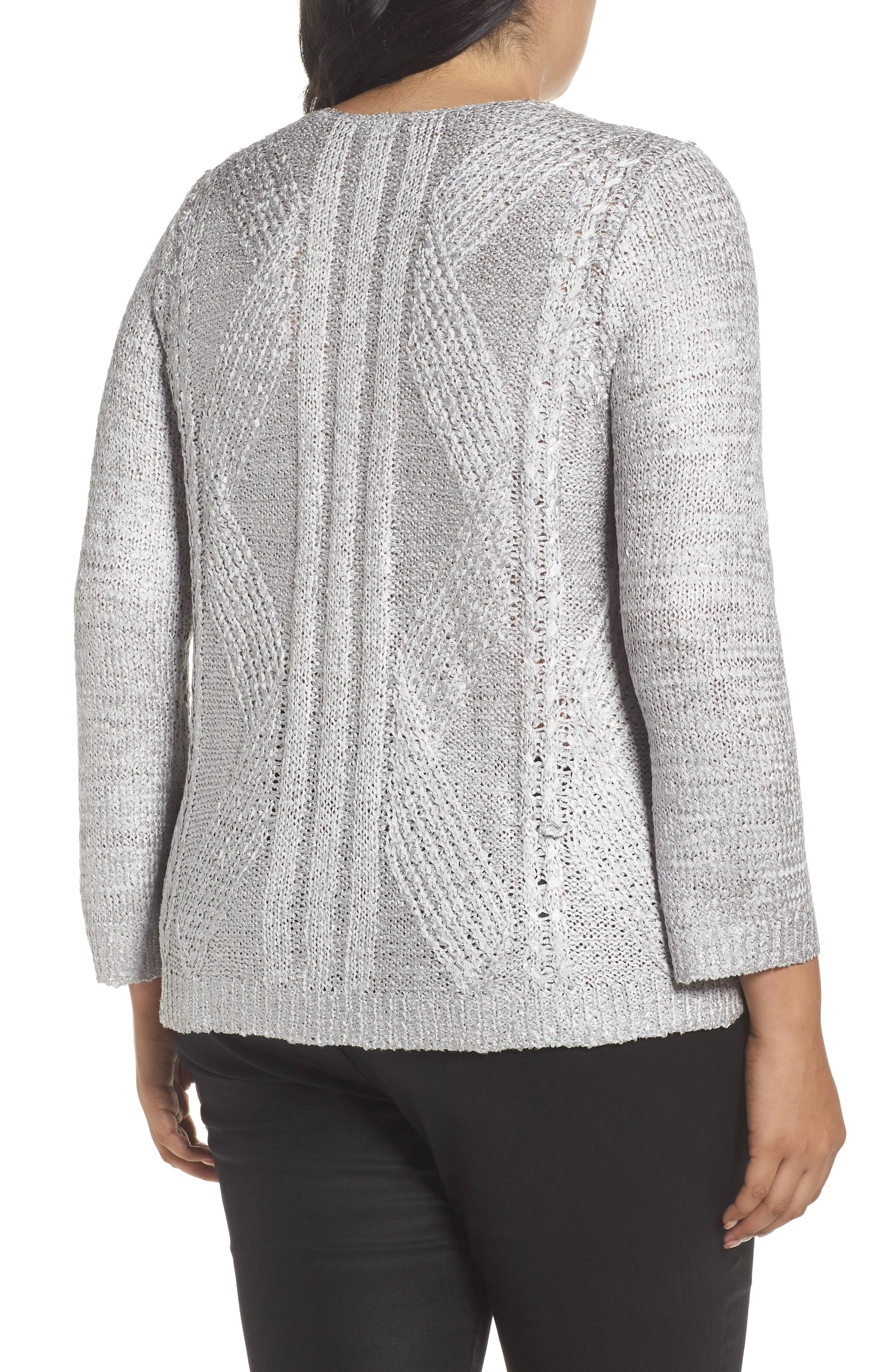 Cable Wave Sweater,                             Alternate thumbnail 3, color,