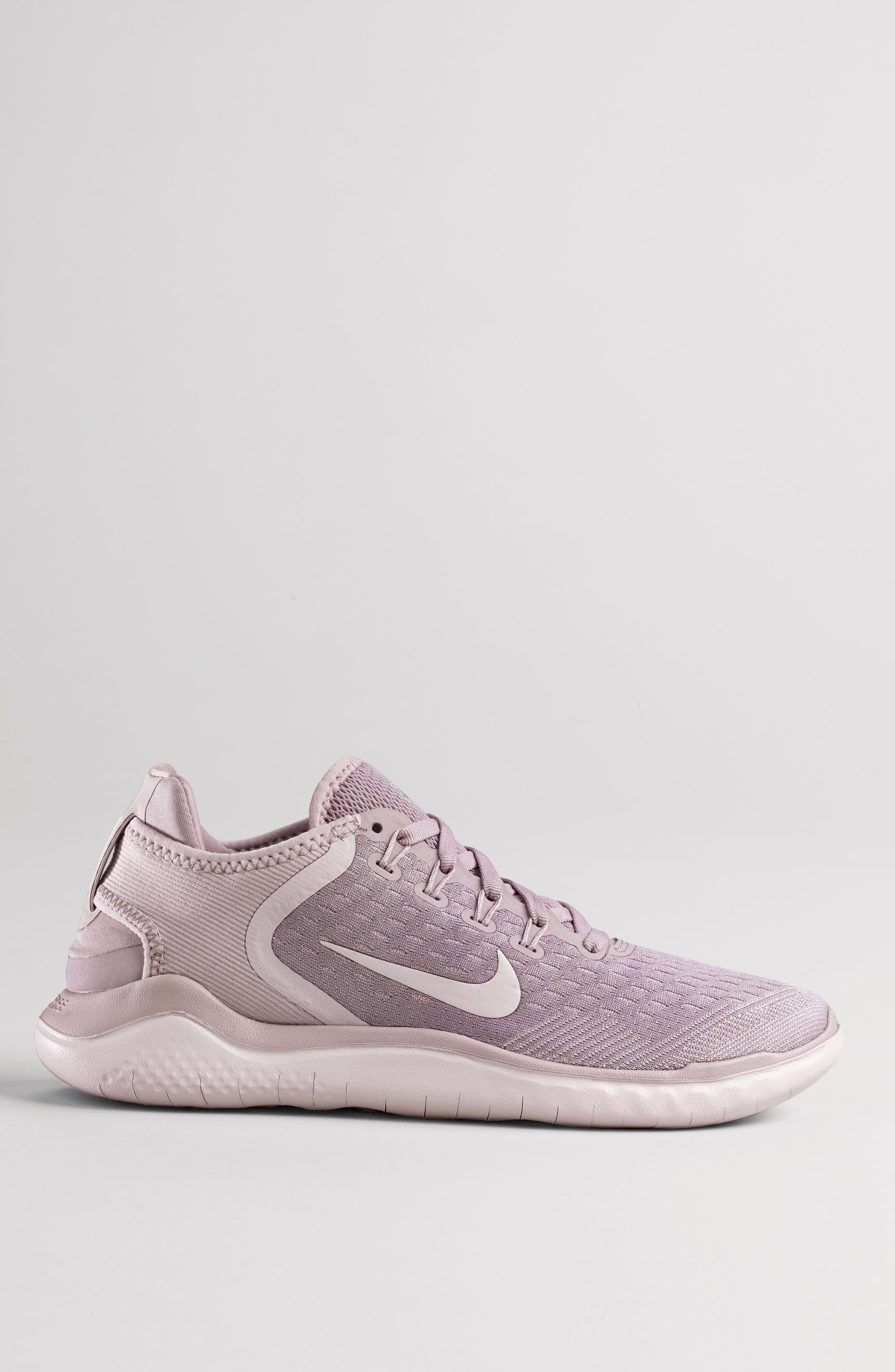NIKE,                             Free RN 2018 Running Shoe,                             Alternate thumbnail 9, color,                             BLACK/ WHITE