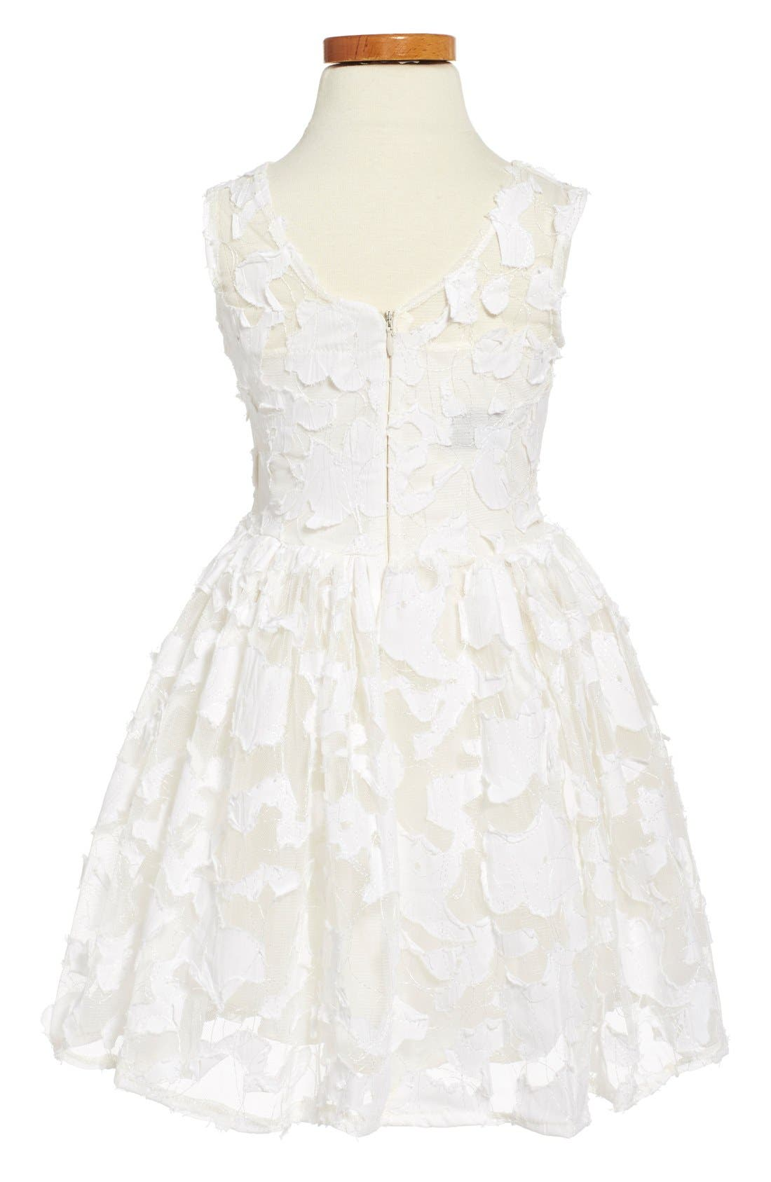 'Pretty in Ivory' Party Dress,                             Alternate thumbnail 5, color,                             900