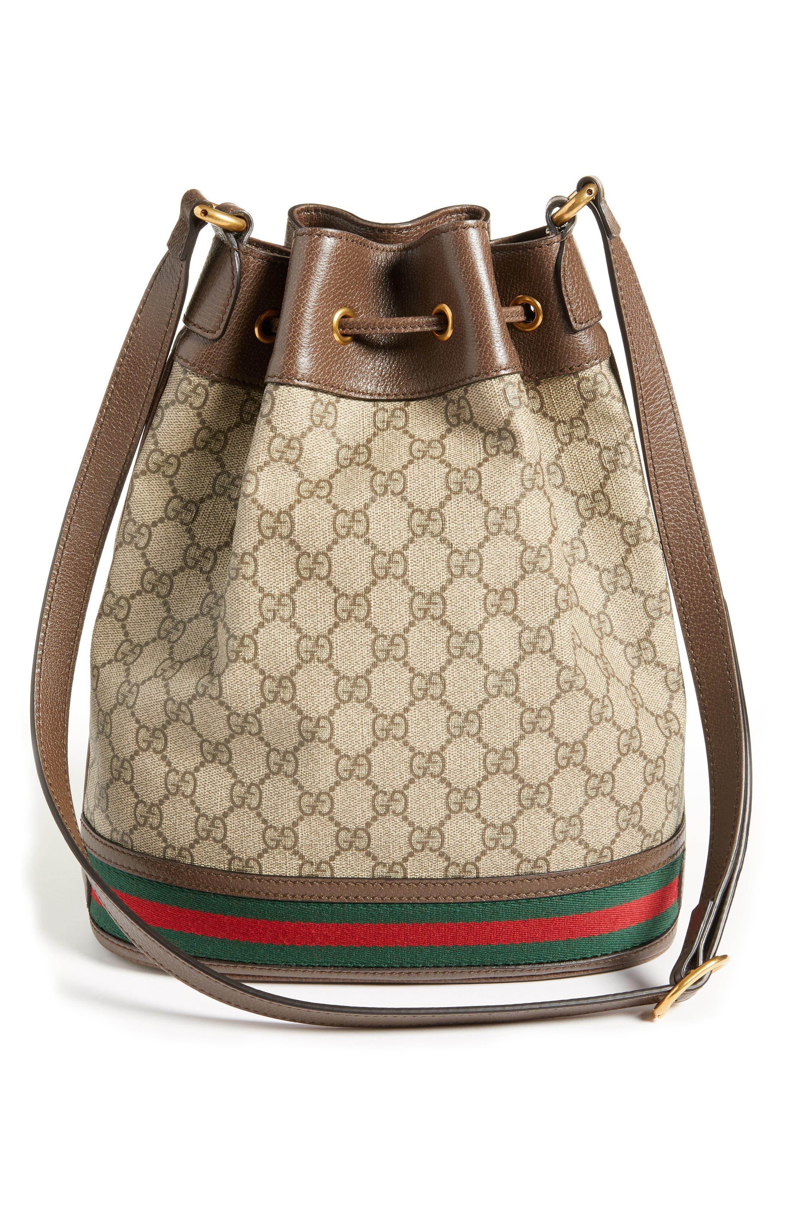 Ophidia GG Supreme Bucket Shoulder Bag,                             Alternate thumbnail 3, color,                             250