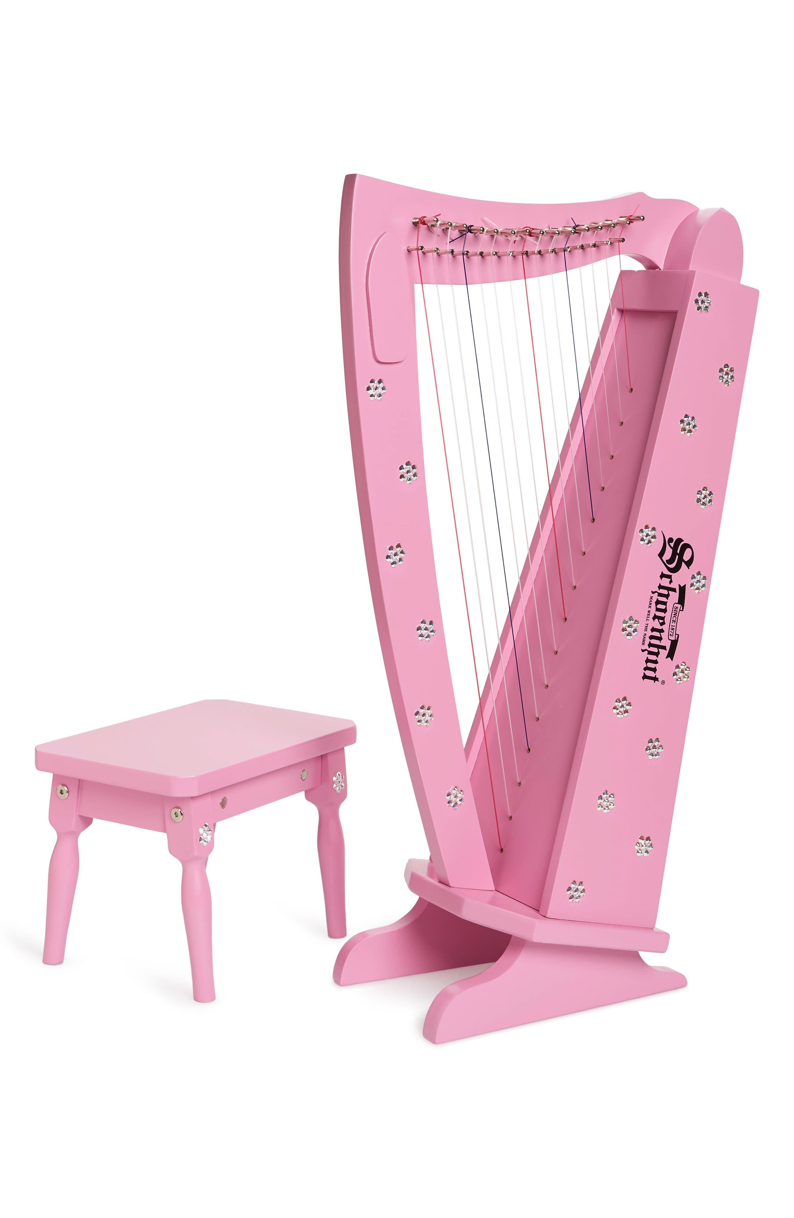 Girls Glitzy Bella Crystal Embellished 15String Harp