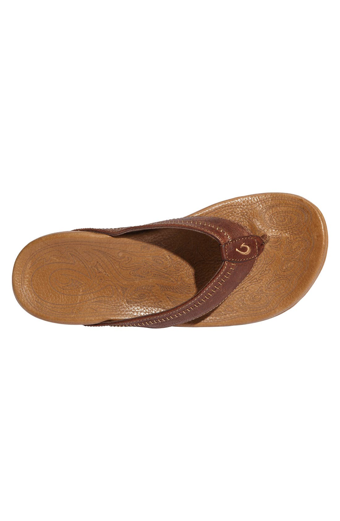 'Hiapo' Flip Flop,                             Alternate thumbnail 6, color,                             DARK JAVA TOFFEE