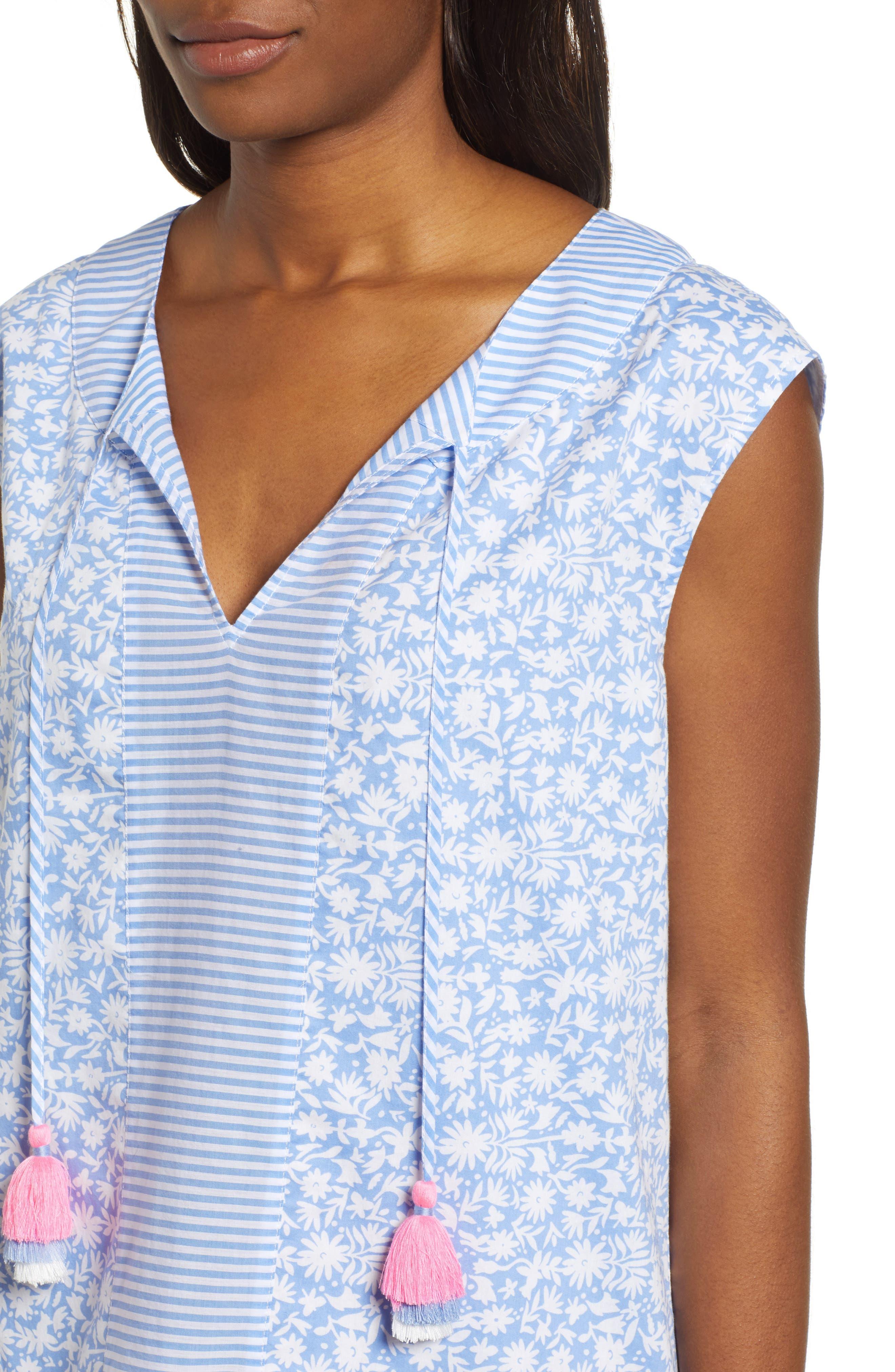 Somerset Tunic Dress,                             Alternate thumbnail 4, color,                             HYDRANGEA