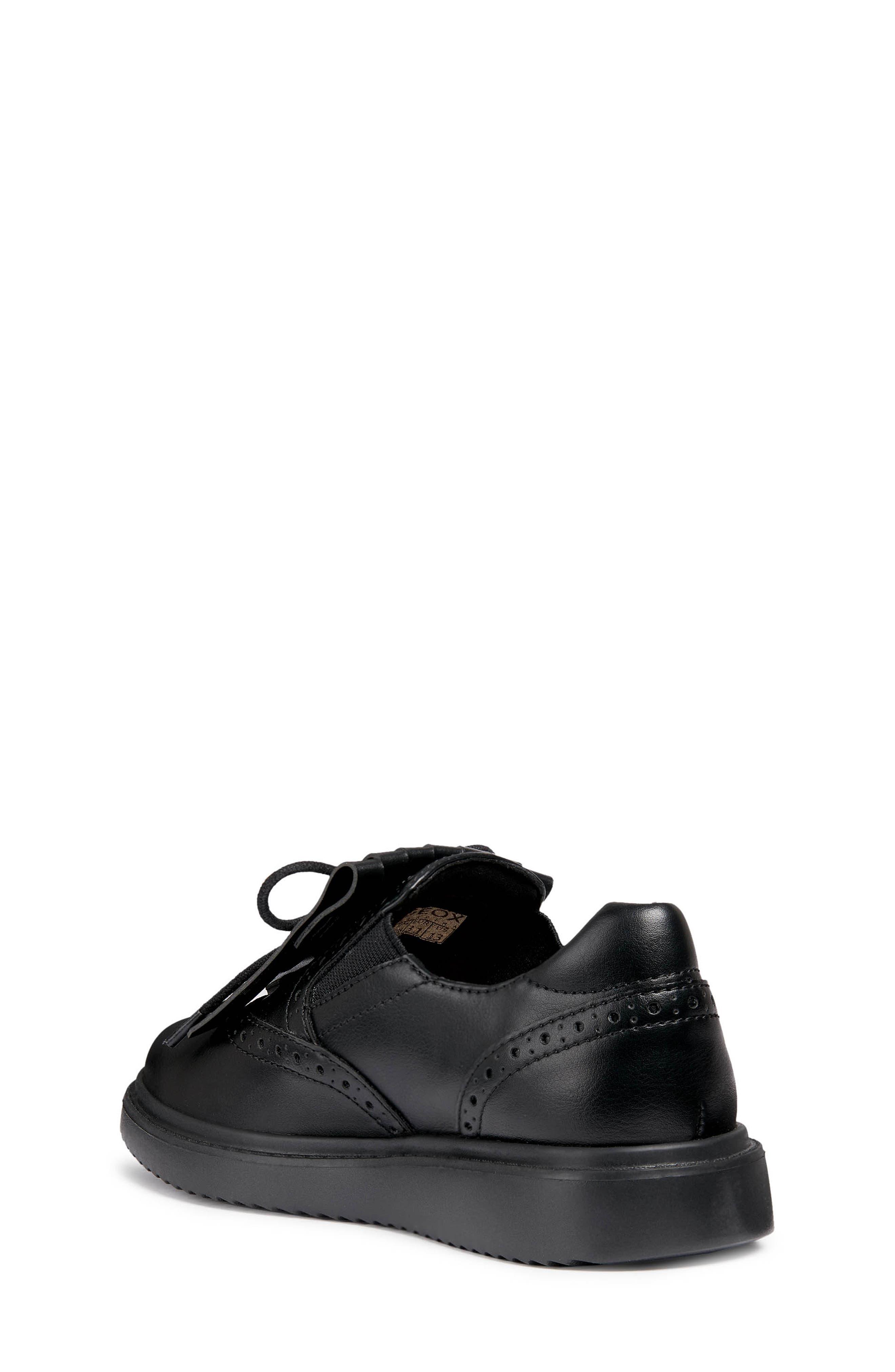 Thymar Kiltie Fringe Sneaker,                             Alternate thumbnail 2, color,                             BLACK