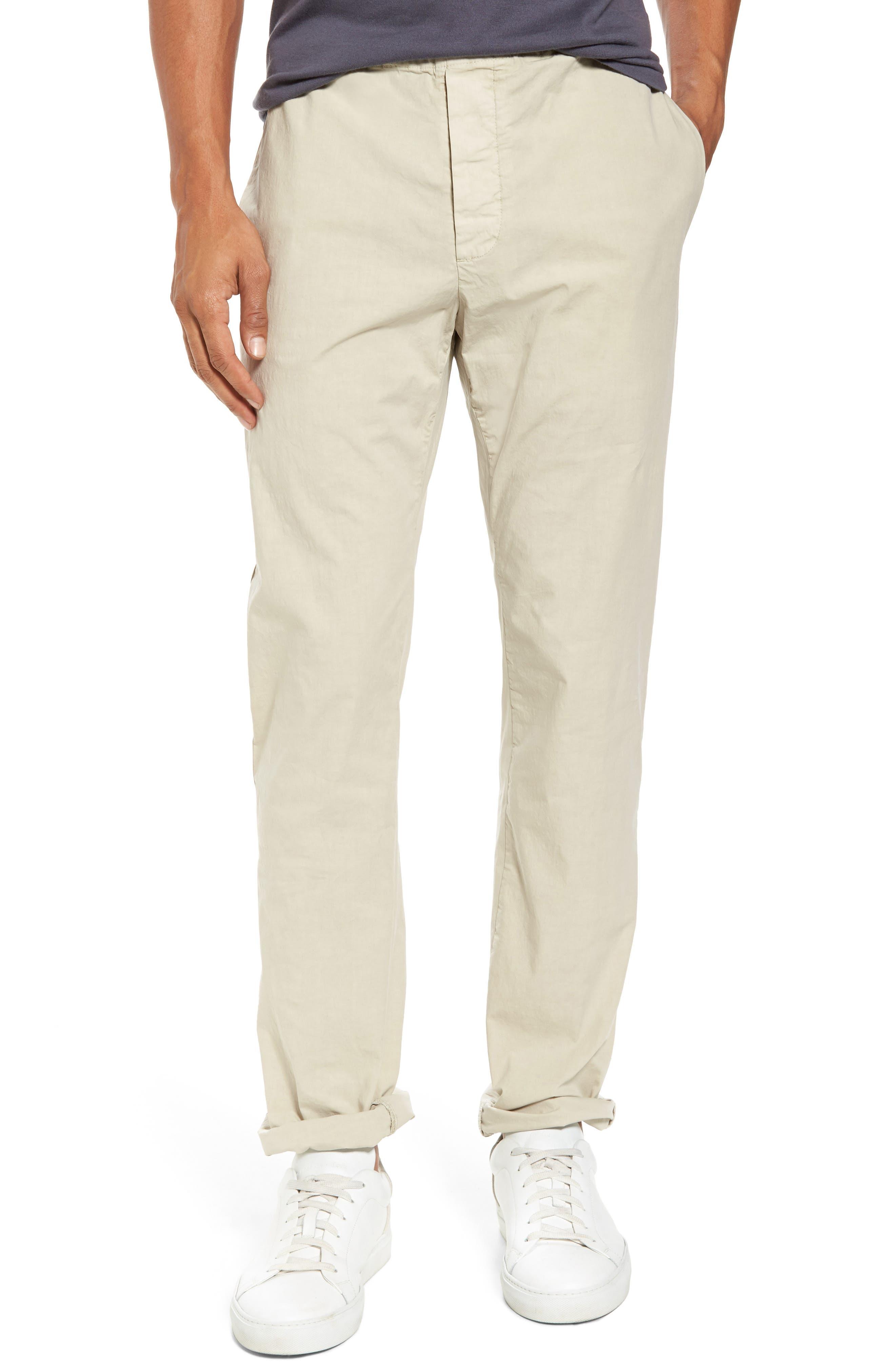 Slim Stretch Poplin Drawcord Pants,                             Main thumbnail 4, color,