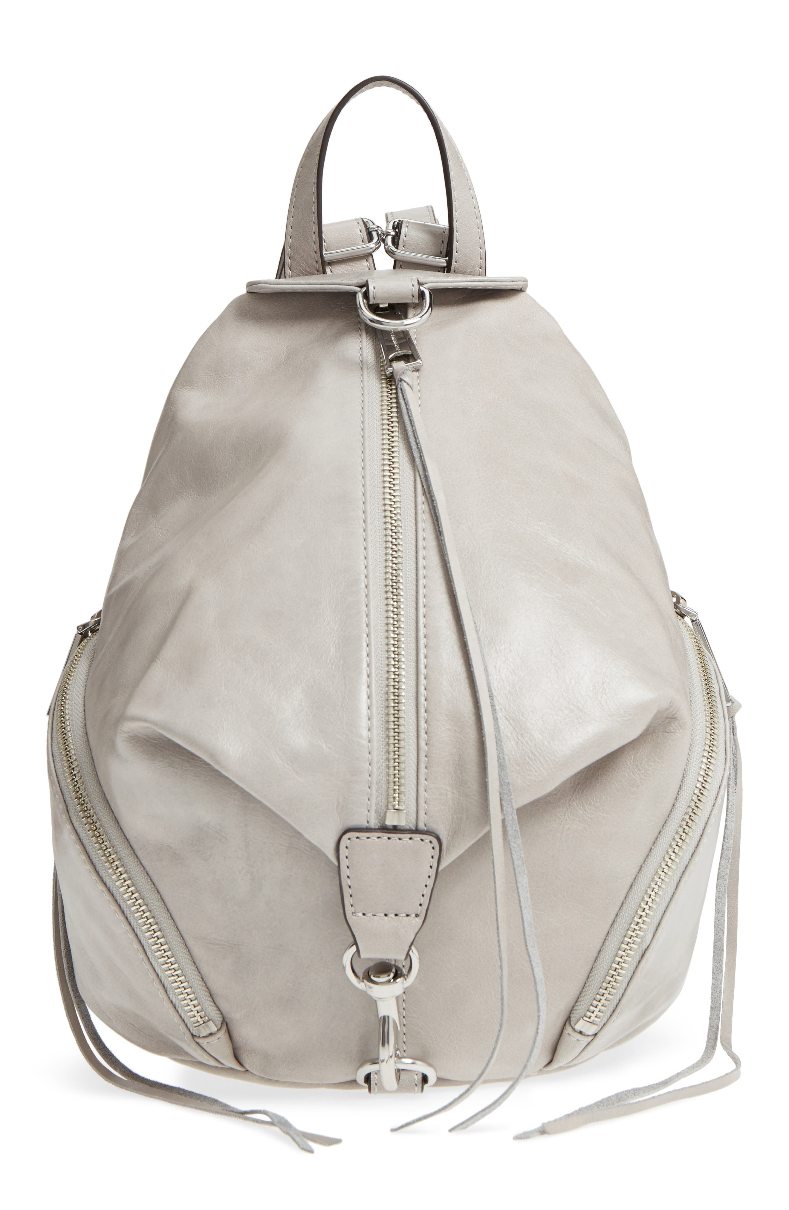 Medium Julian Leather Backpack,                             Main thumbnail 1, color,                             090
