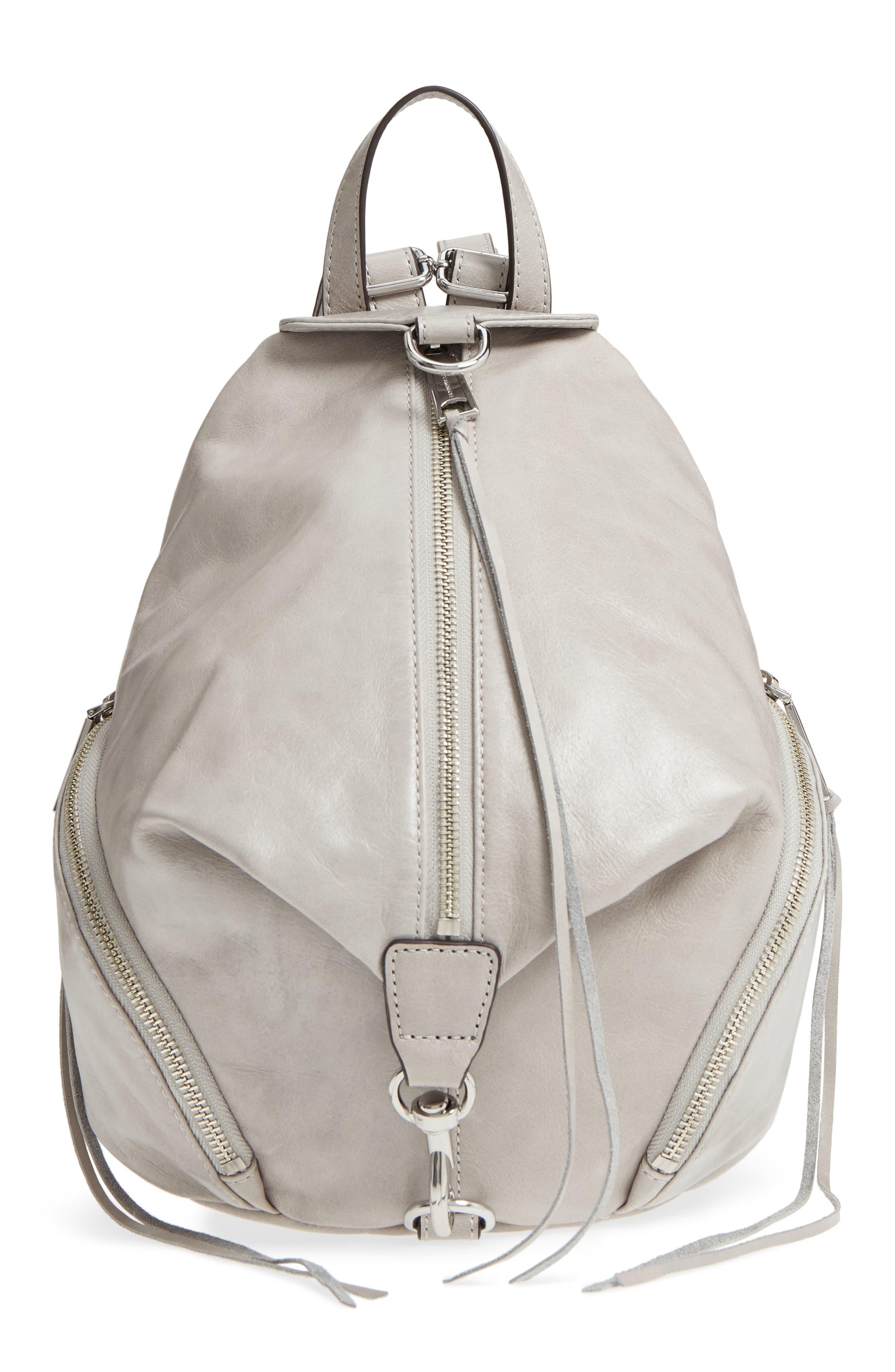 Medium Julian Leather Backpack,                         Main,                         color, 090