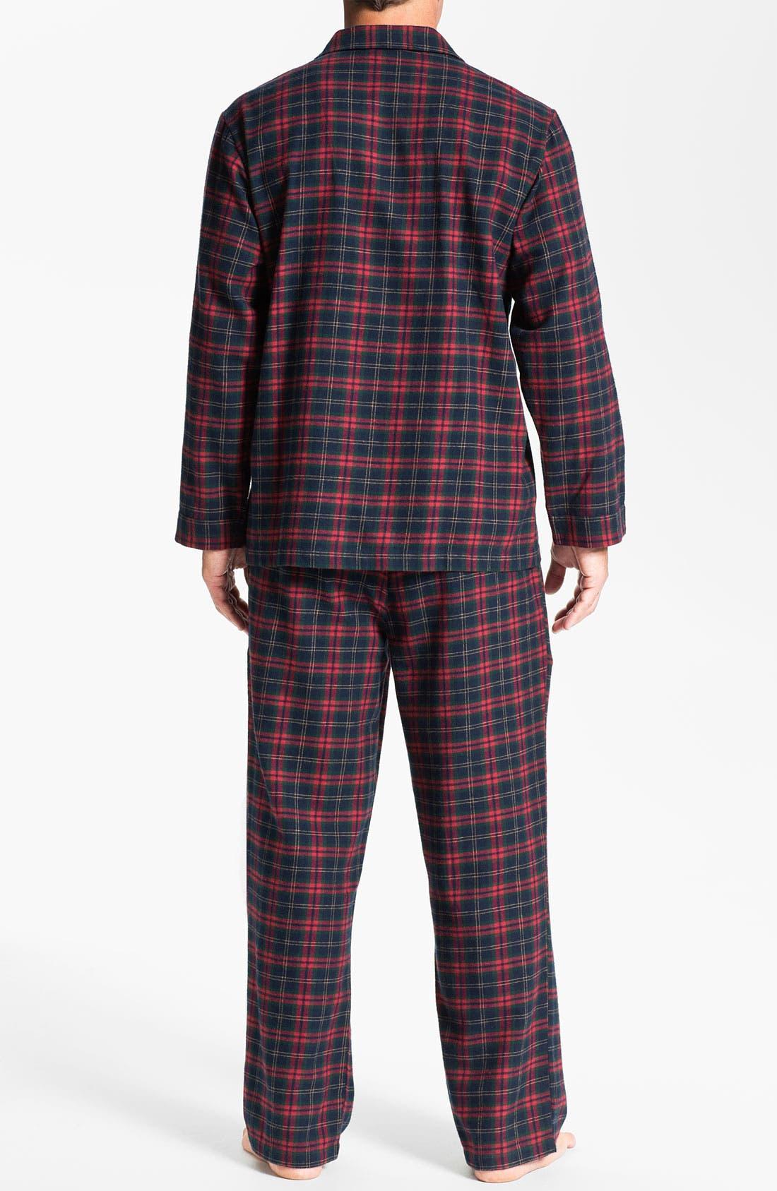 '824' Flannel Pajama Set,                             Alternate thumbnail 57, color,