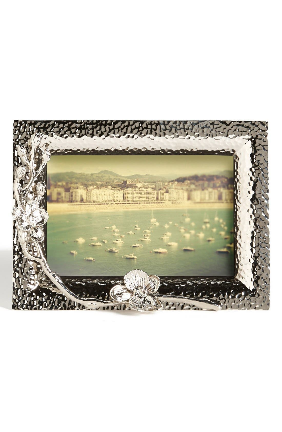 'White Orchid' Picture Frame,                         Main,                         color, SILVER