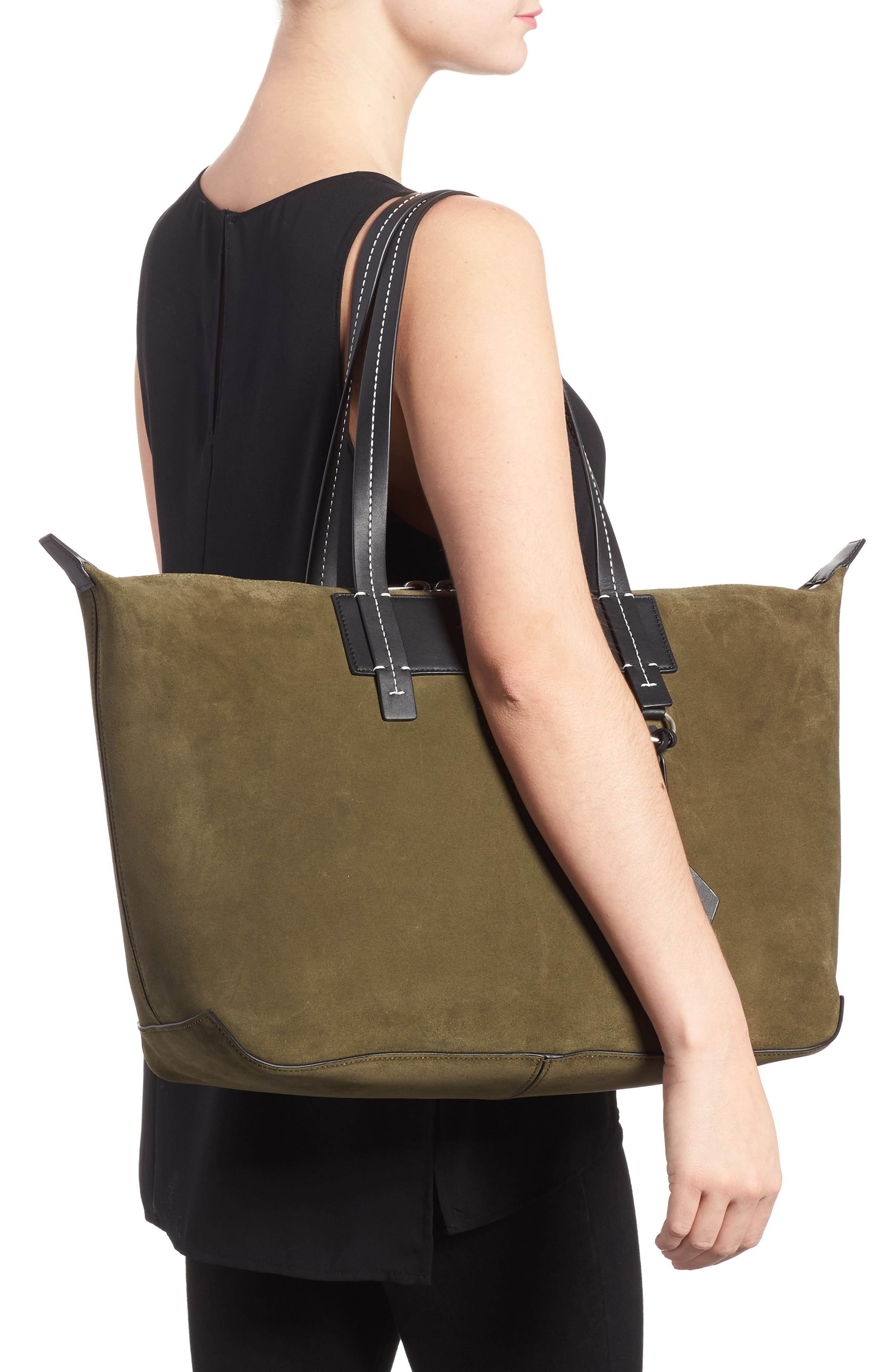 Compass Everyday Suede Tote,                             Alternate thumbnail 2, color,