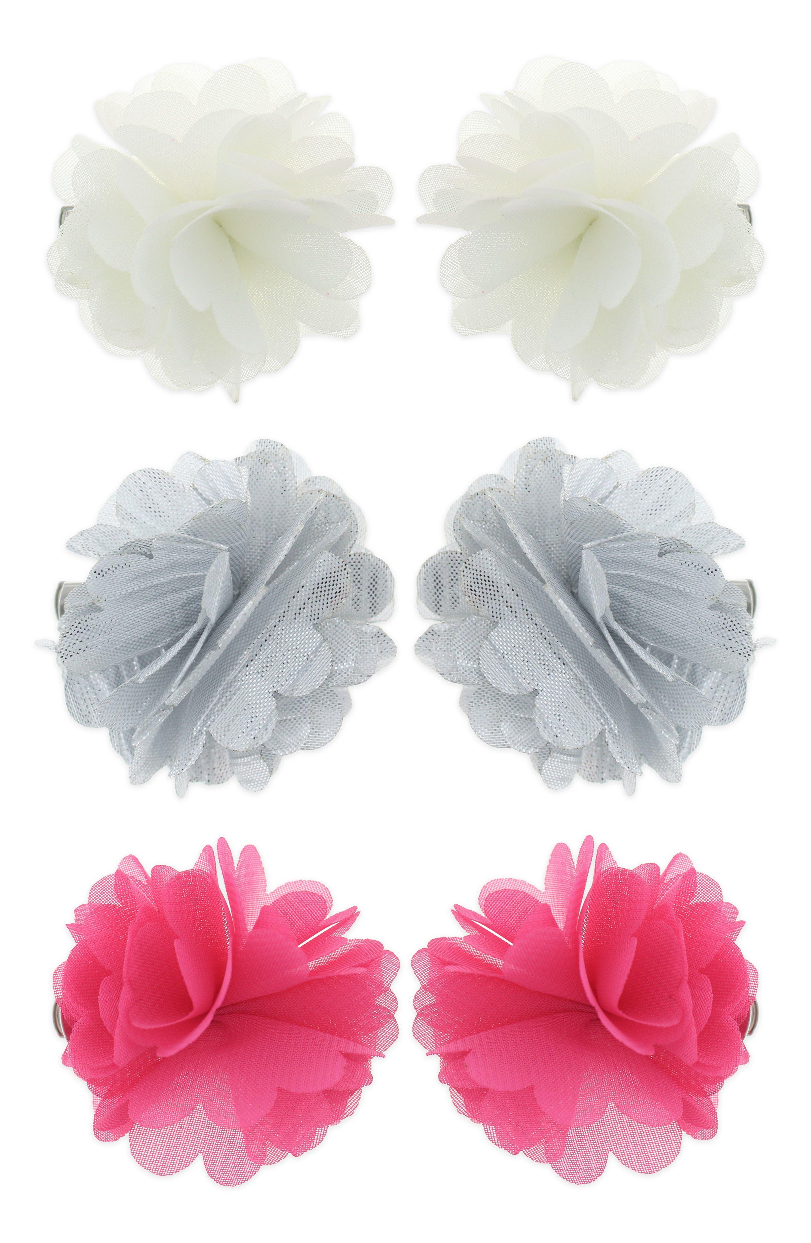 6-Piece Hair Clip Set,                         Main,                         color, FUCHSIA