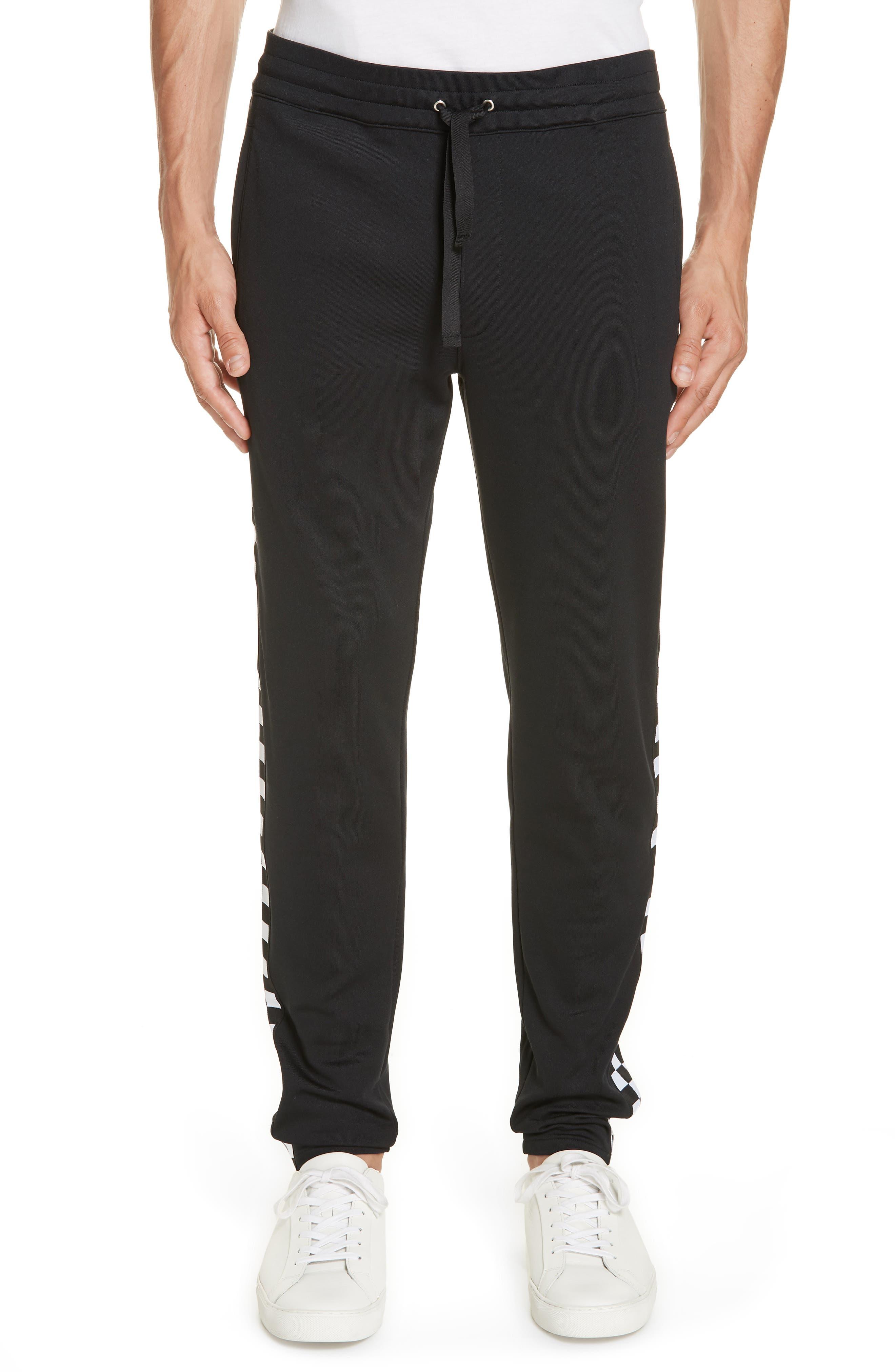 Check Track Pants,                         Main,                         color, 001