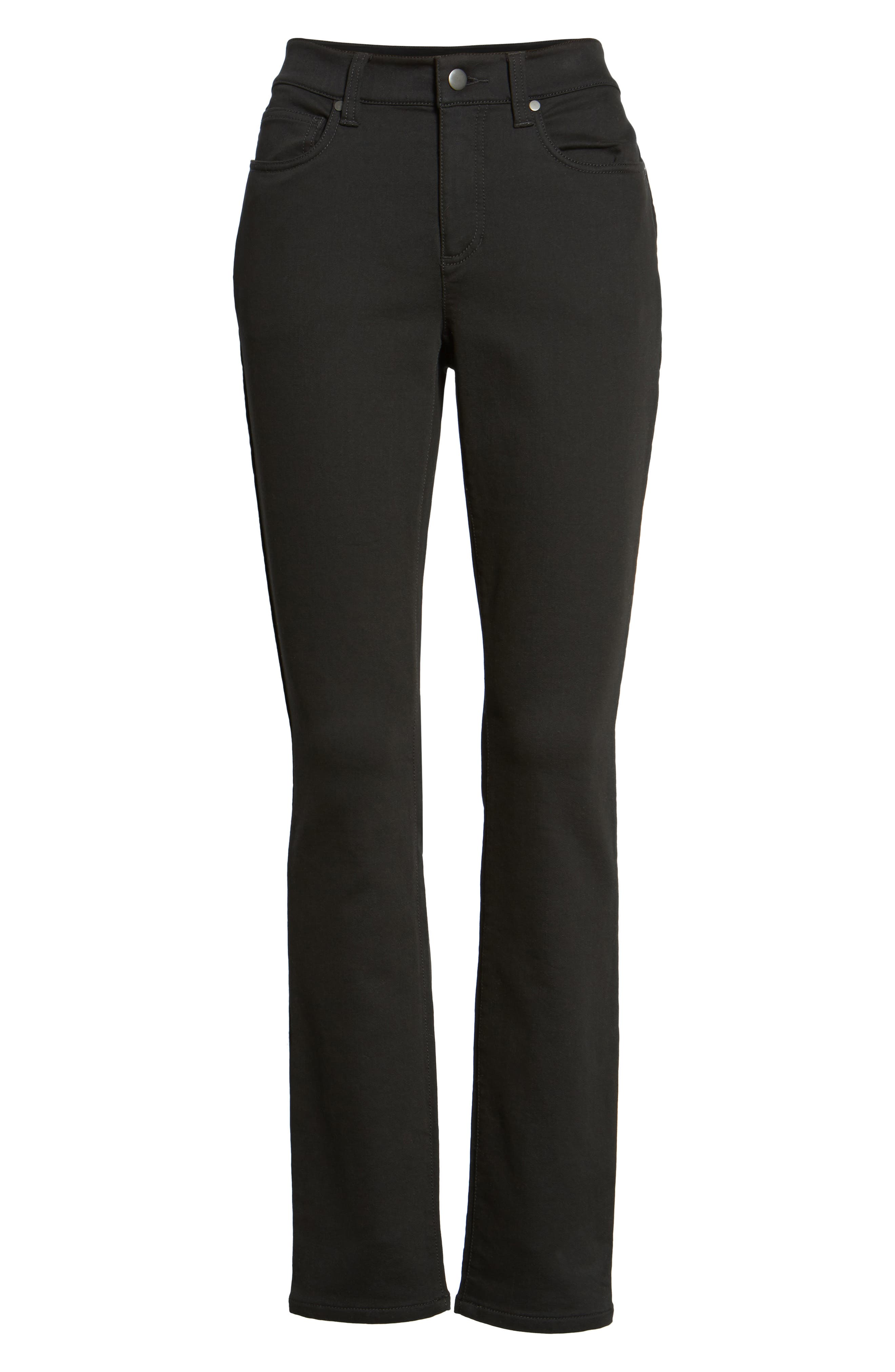 Stretch Organic Cotton Skinny Jeans,                             Alternate thumbnail 6, color,                             001