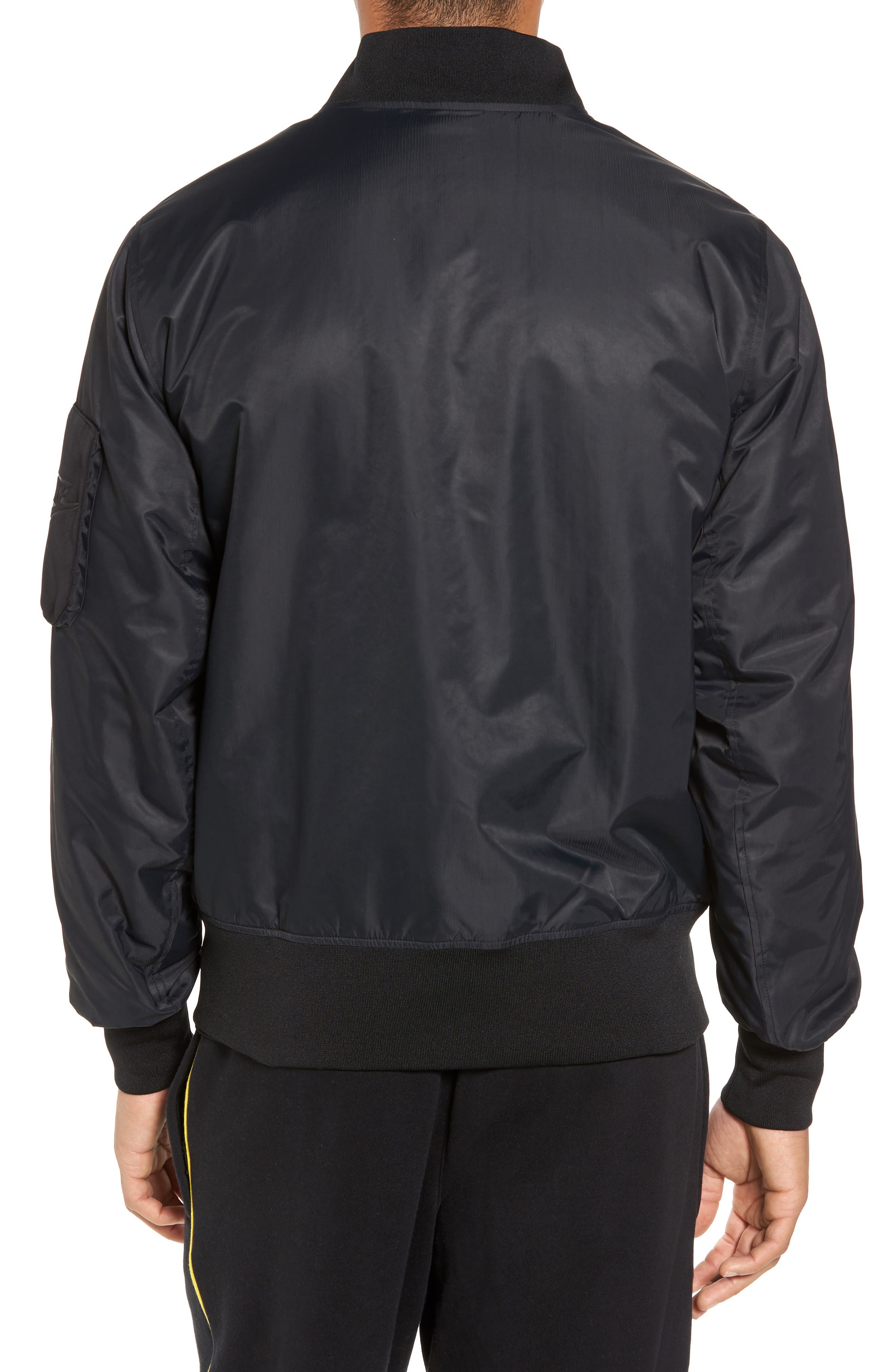 NSW Air Max Woven Bomber Jacket,                             Alternate thumbnail 2, color,                             010