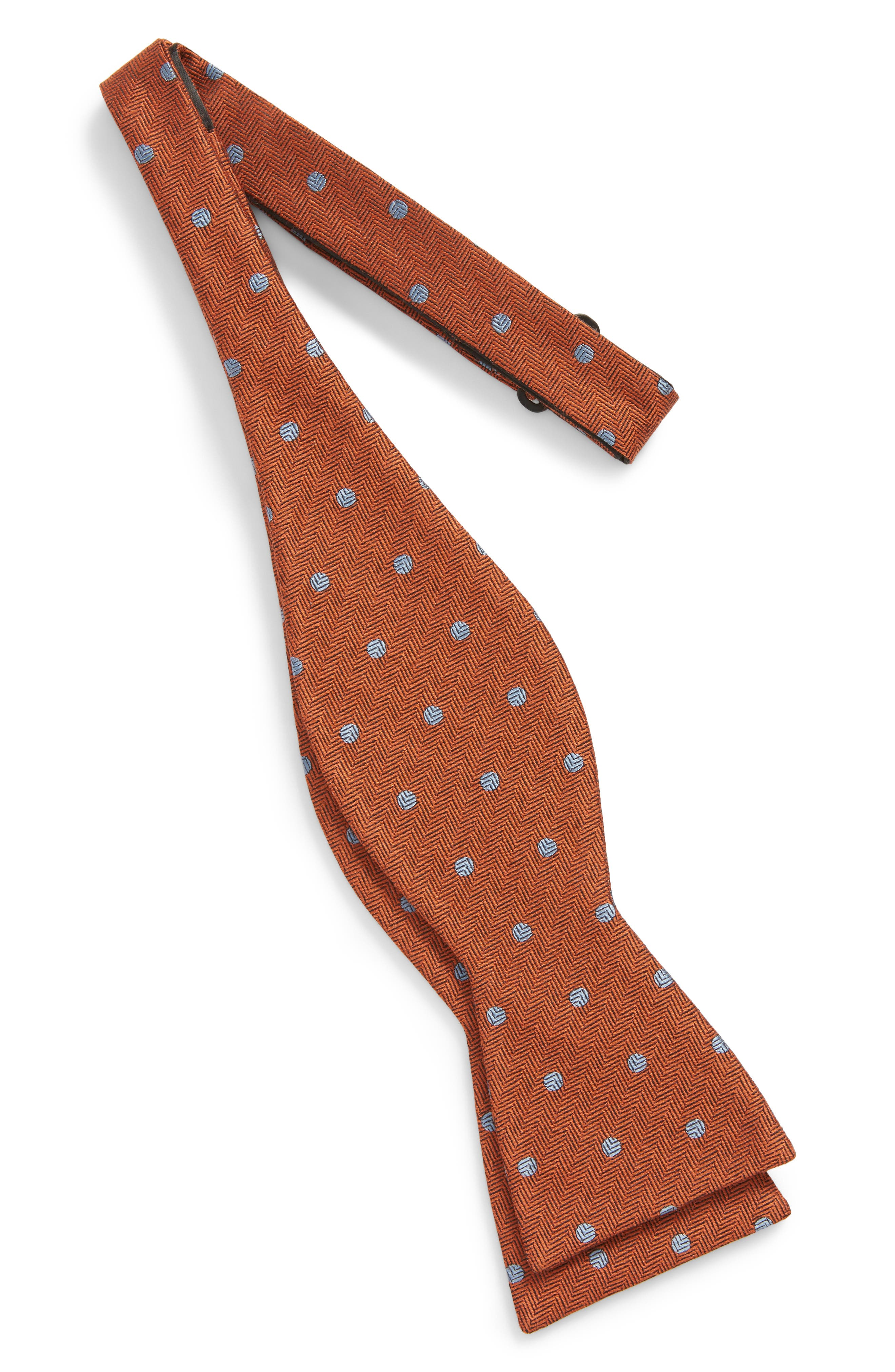 Dotted Hitch Wool & Silk Bow Tie,                             Alternate thumbnail 5, color,