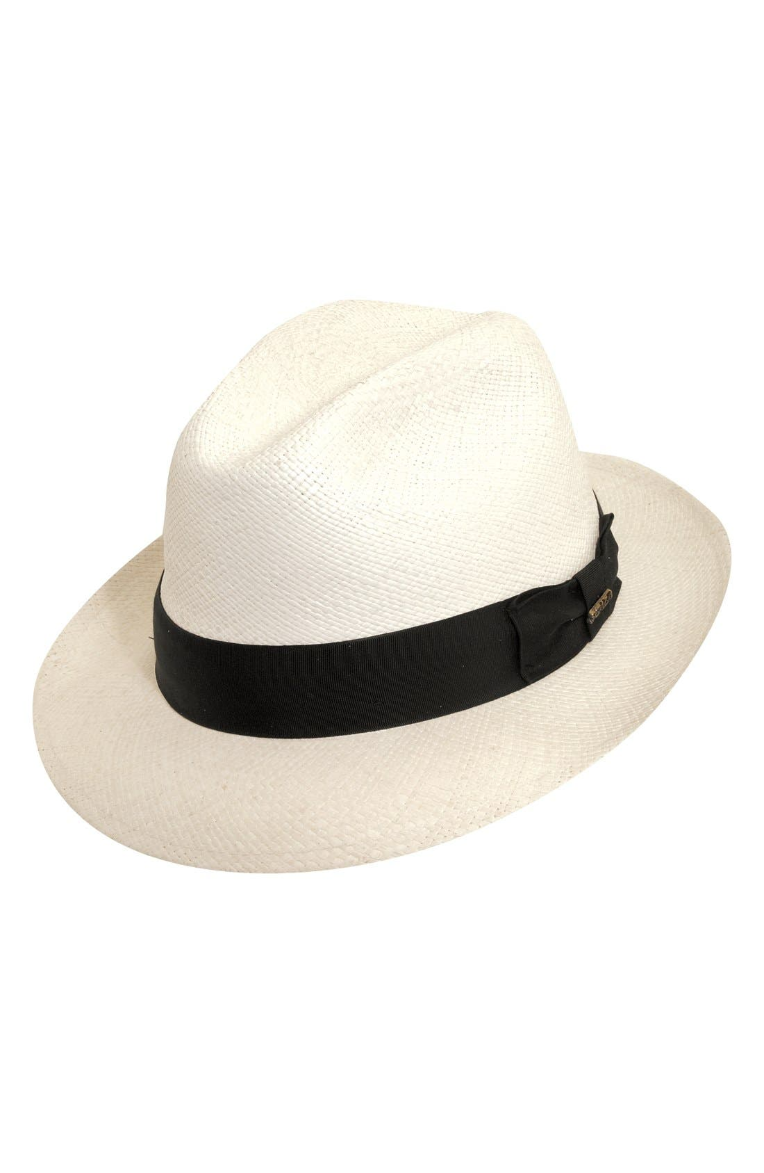 Straw Trilby,                         Main,                         color, BLEACH