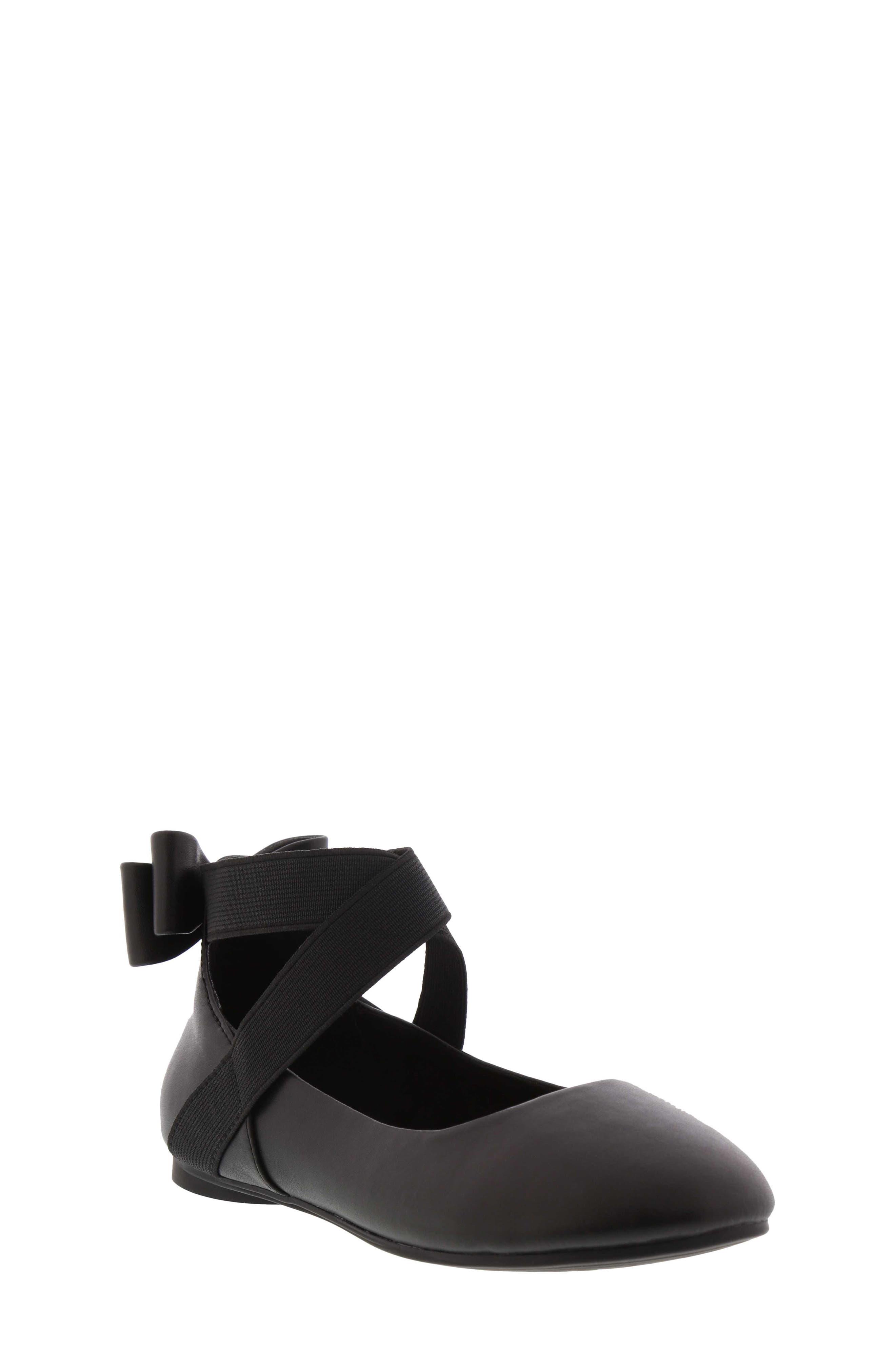 Strappy Ballet Flat,                         Main,                         color, BLACK