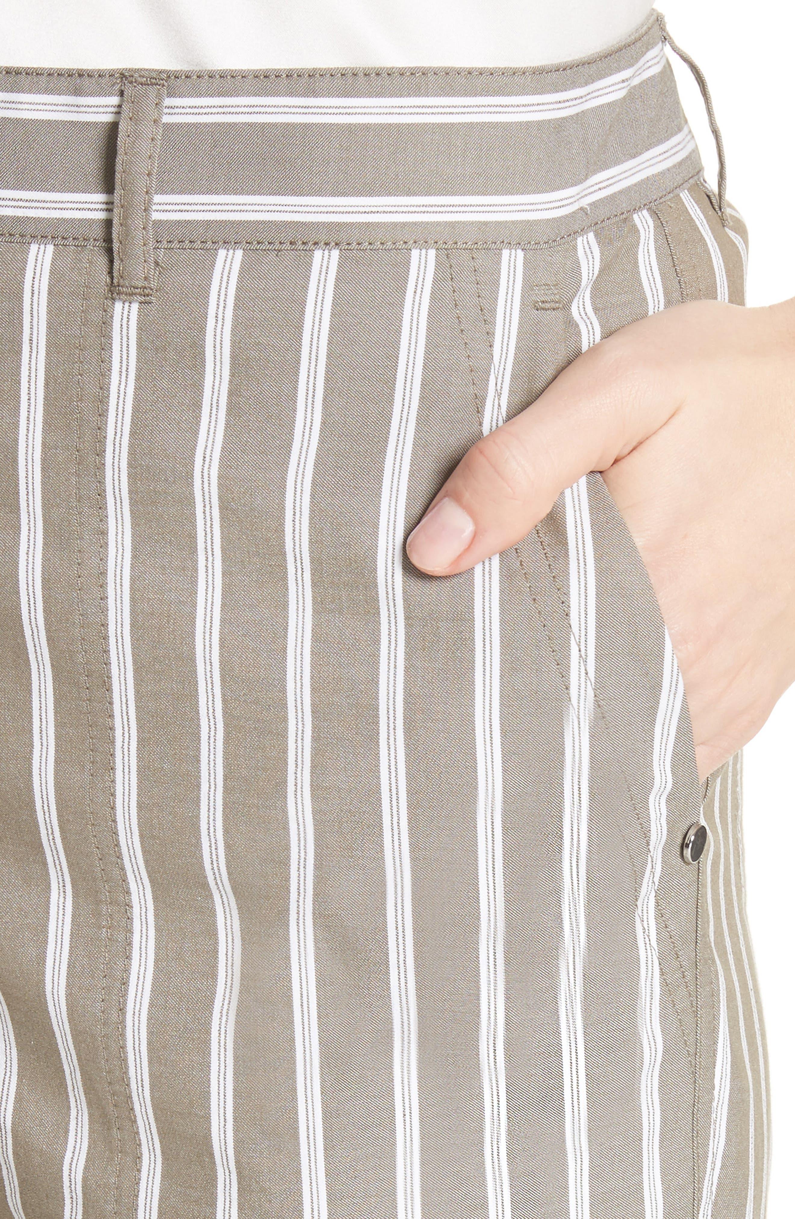Fulton Desert Stripe Cotton & Linen Pants,                             Alternate thumbnail 4, color,
