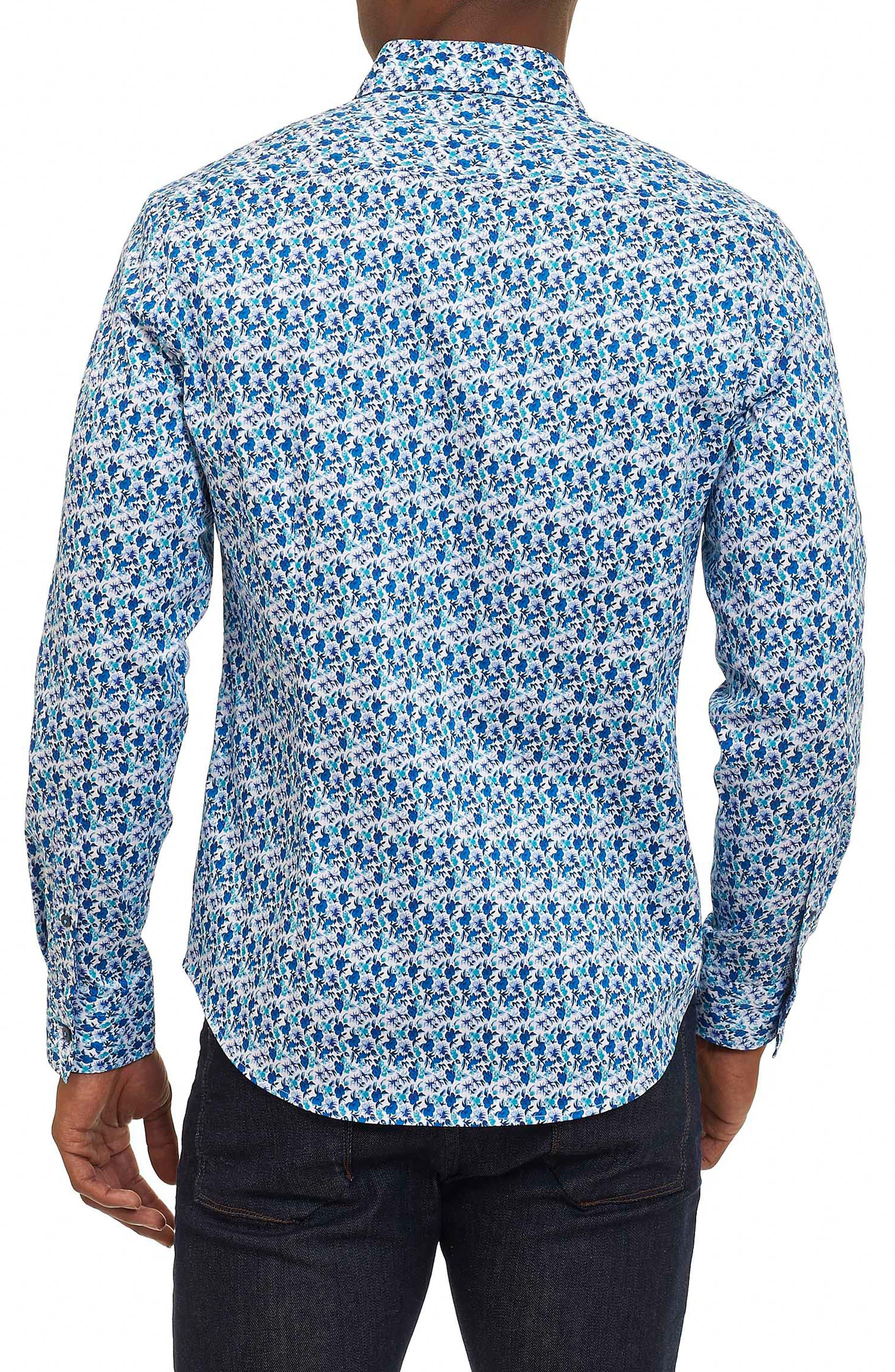 Rylan Tailored Fit Print Sport Shirt,                             Alternate thumbnail 2, color,                             100
