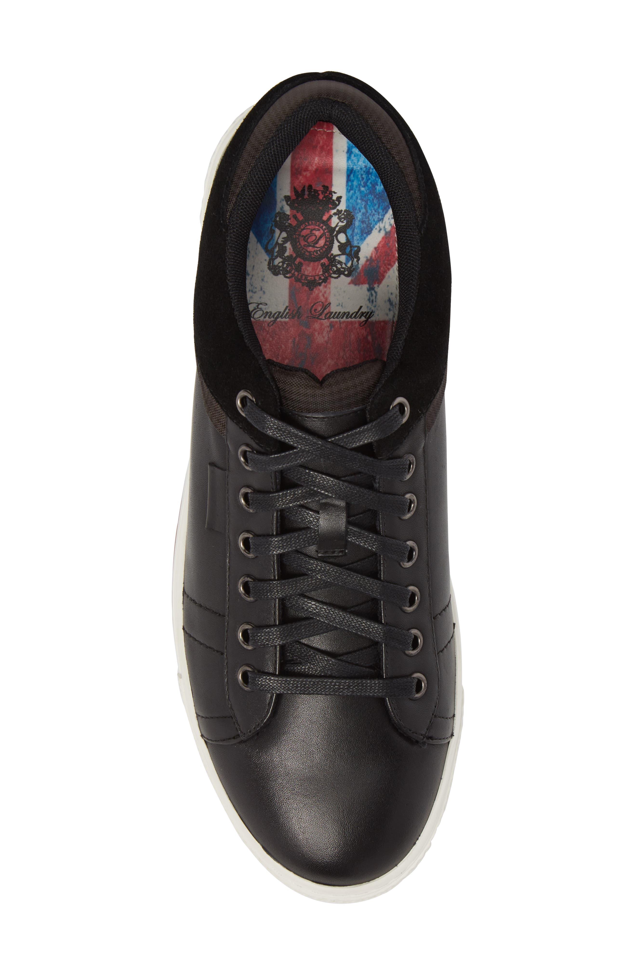 Ireton Low Top Sneaker,                             Alternate thumbnail 5, color,                             BLACK LEATHER/ SUEDE