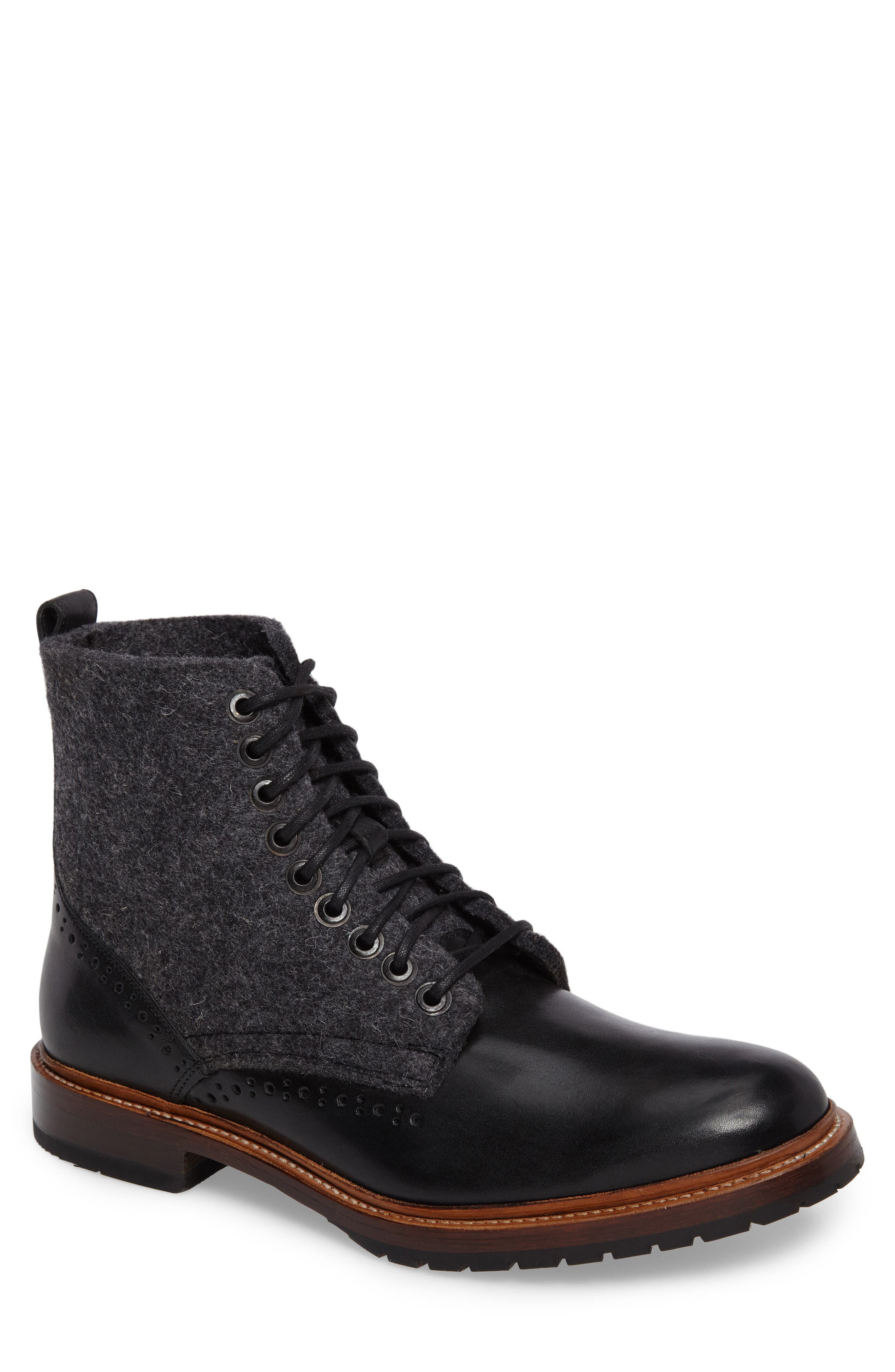 Stacy Adams Madison Ii Felt Shaft Boot, Black